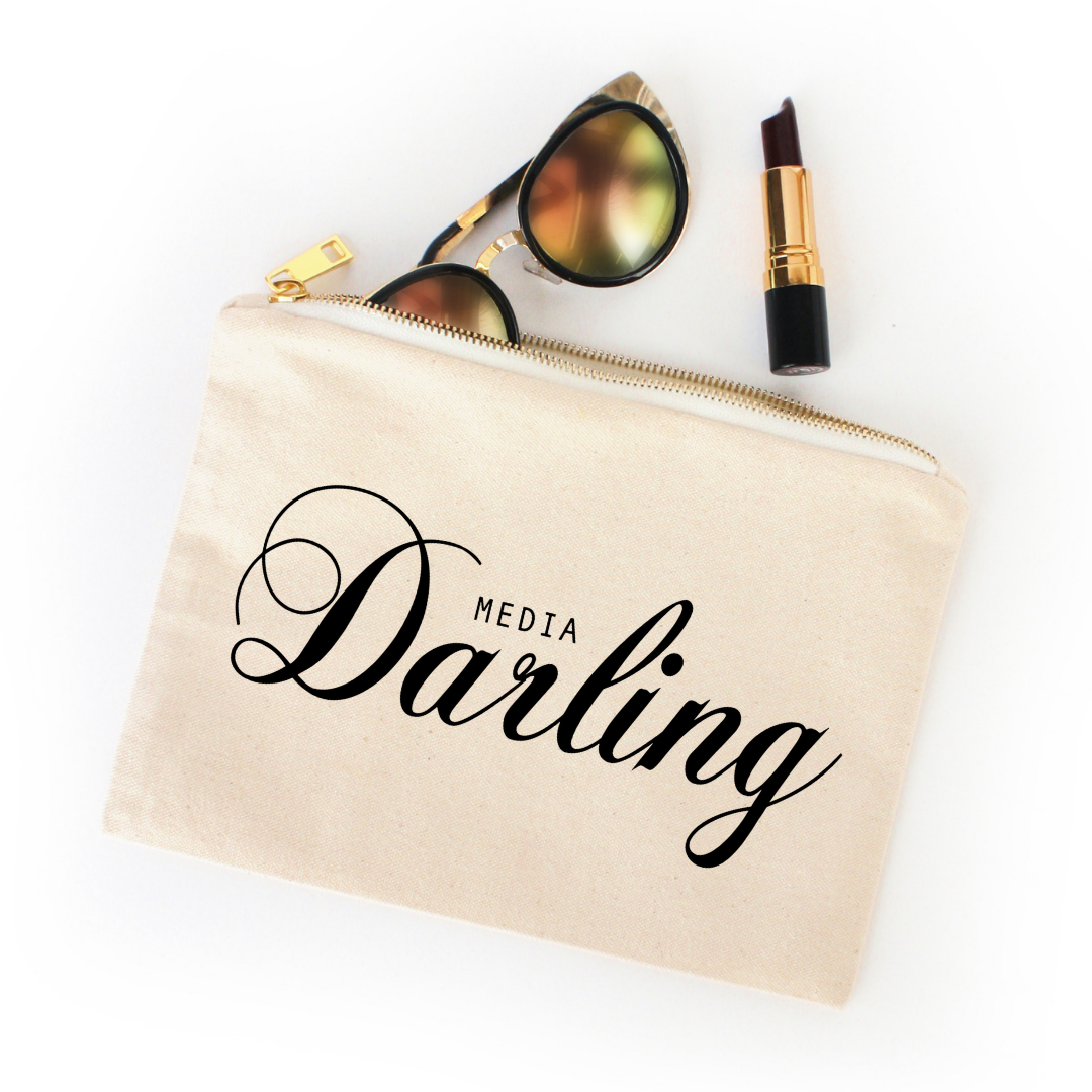Media Darling cosmetic bag