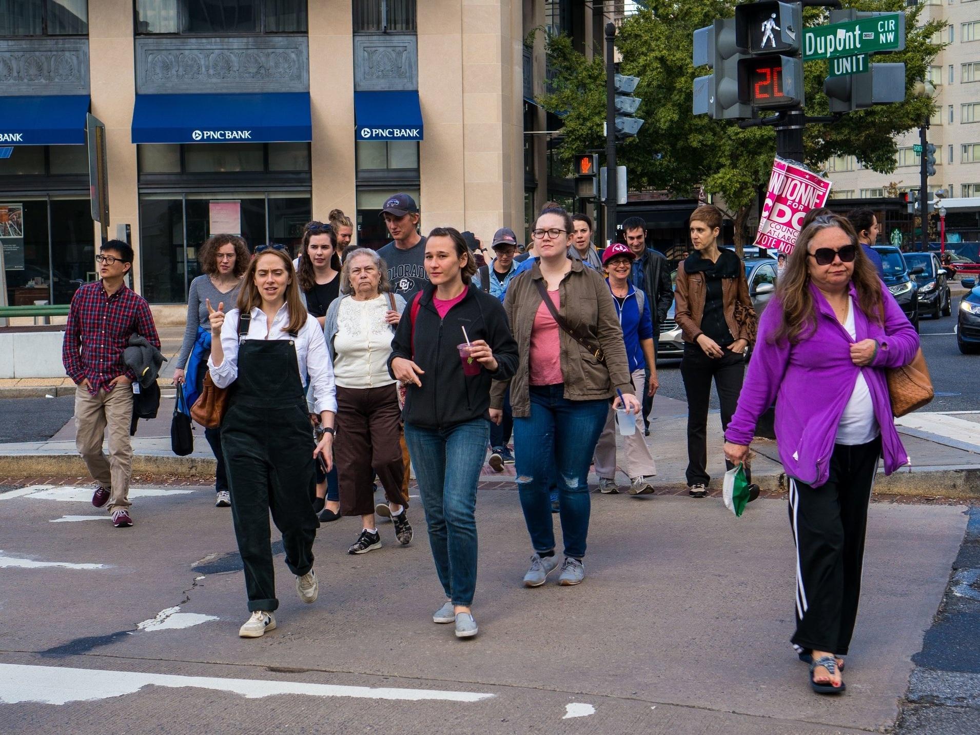 Dupont Walking tour. (Photo by Eleni Maltagliati)
