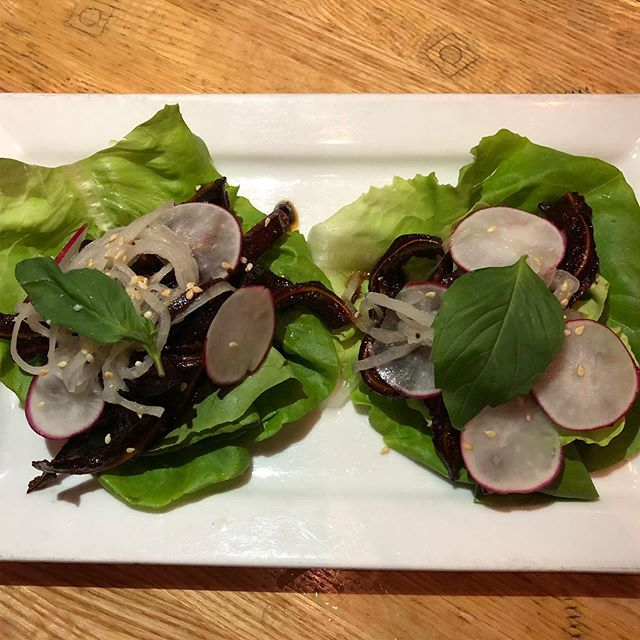 Pig ear lettuce wraps @thepigdc !Sweet and savory with a fresh veggie crunch, they prove that nose-to-tail dining isn't just sustainable—it's crazy good too! . . Get them soon! #RescueDishDC concludes today! For a full list of restaurants featuring creative, waste-cutting dishes head to RescueDish.org!. . . . #mydccool #madeindc #eatlocal #nofoodwaste #foodwaste #sustainability #sustainable #sustainabledining #dcfoodies #dcfood #dcdining #eaterdc #federalfoodies #nosetotail #nosetotailcooking #nosetotaildining #pork #pigear #pigsears #lettucewraps #lettucewrap #14thstreetdc