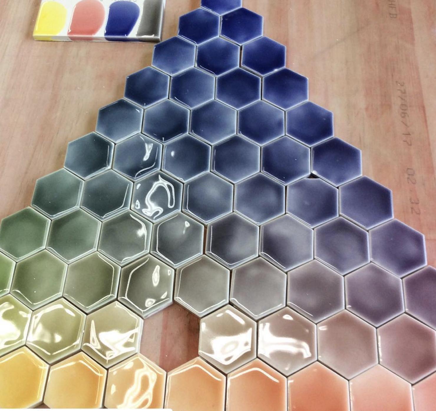 Pratt & Larson rainbow tiles