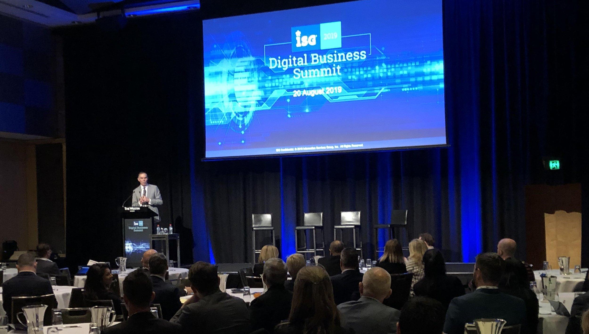 ISG Digital Business Summit - 20 August 2019
