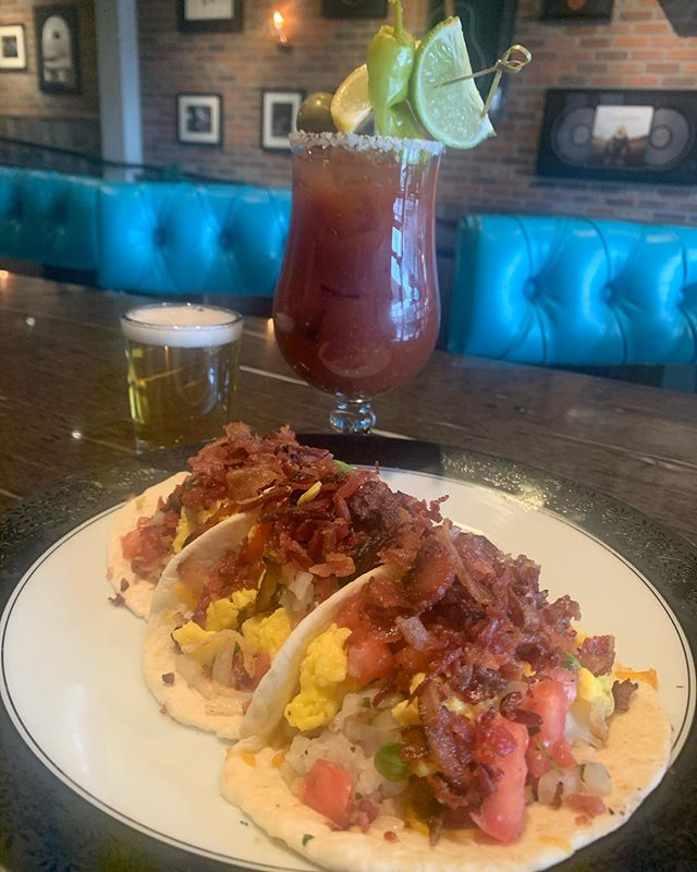 We know what you need today! #waterloolouisville #bestbloodymary #sundaybrunch #breakfasttacos