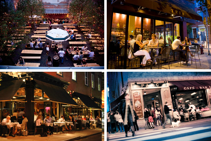 philadelphia bar, beer garden, and restaurants.