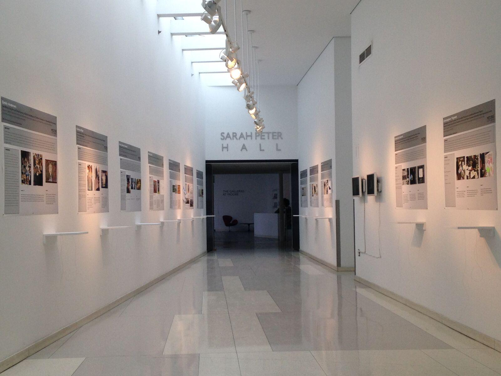 Moore gallery hallway.
