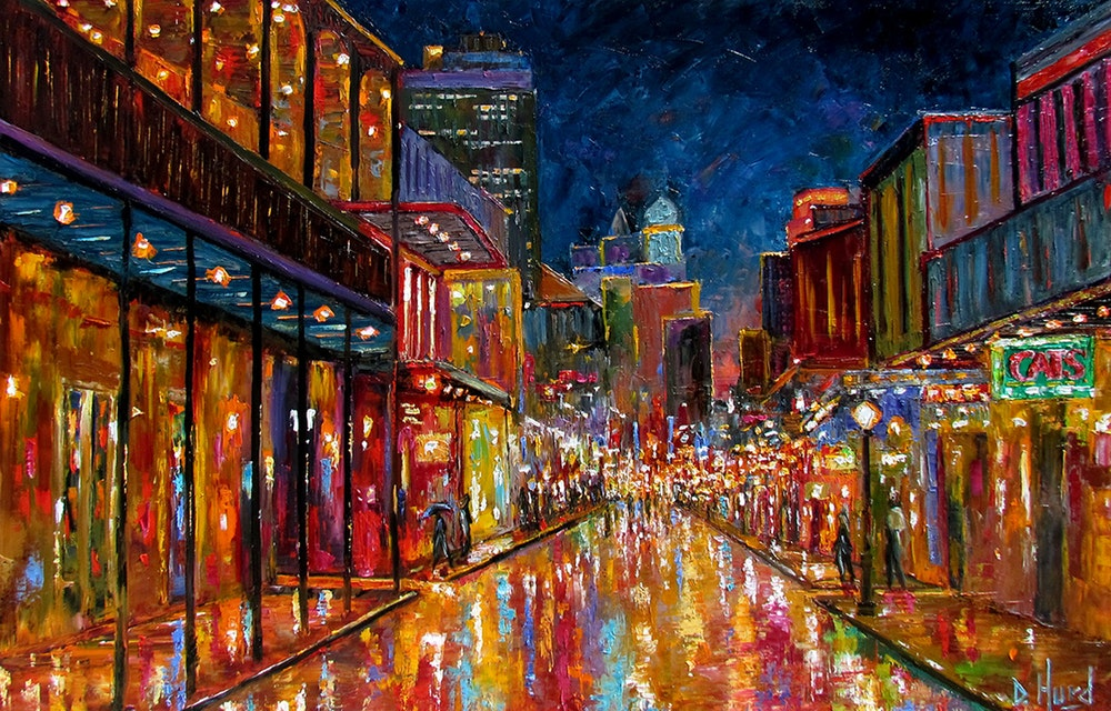 Now to get ready for this (Bourbon Street Cityscape,  ©   Debra Hurd )