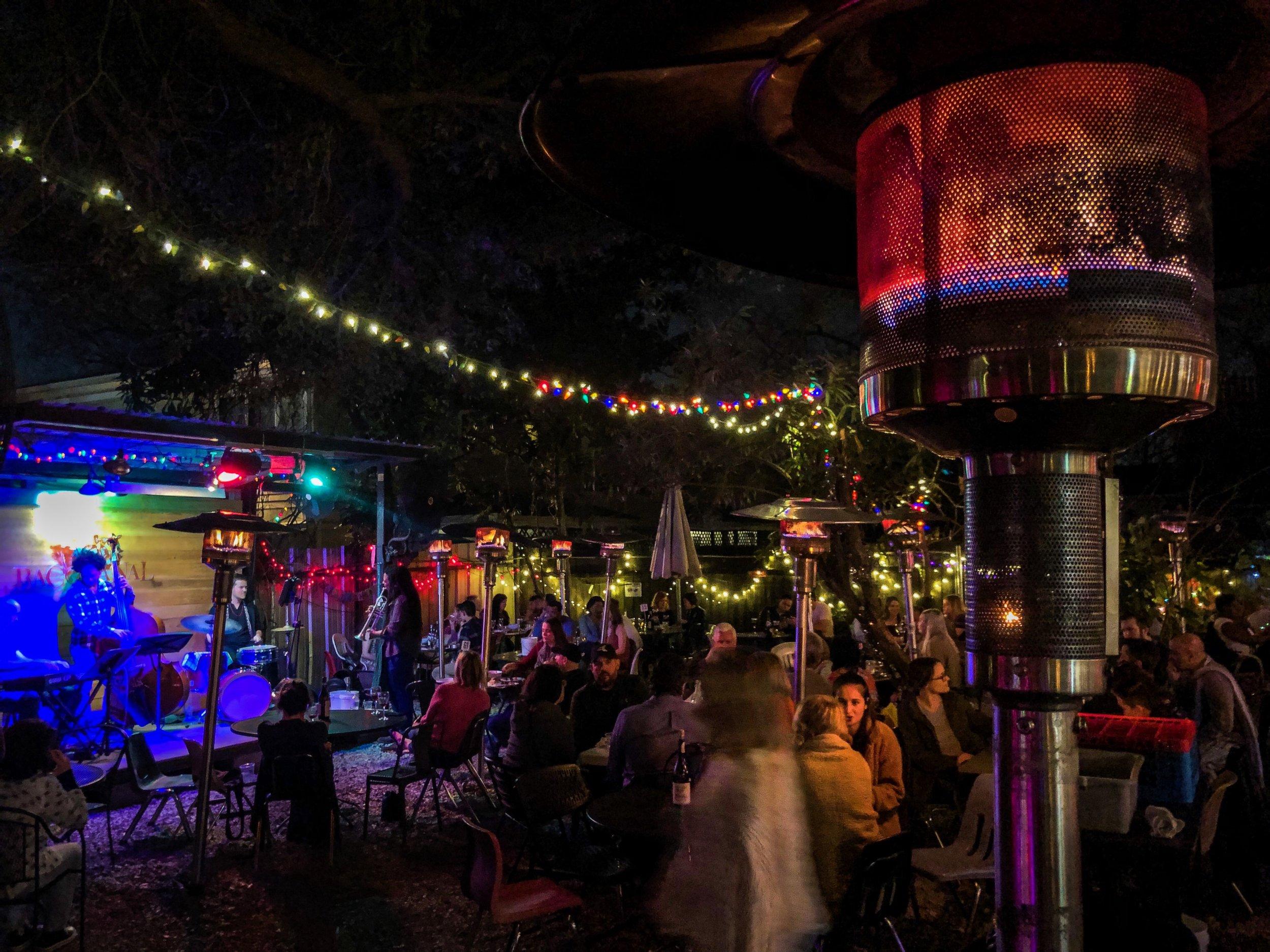 Back Patio at Bacchanal (New Orleans, 2019,  ©  JOEL ANG PHOTOGRAPHY)