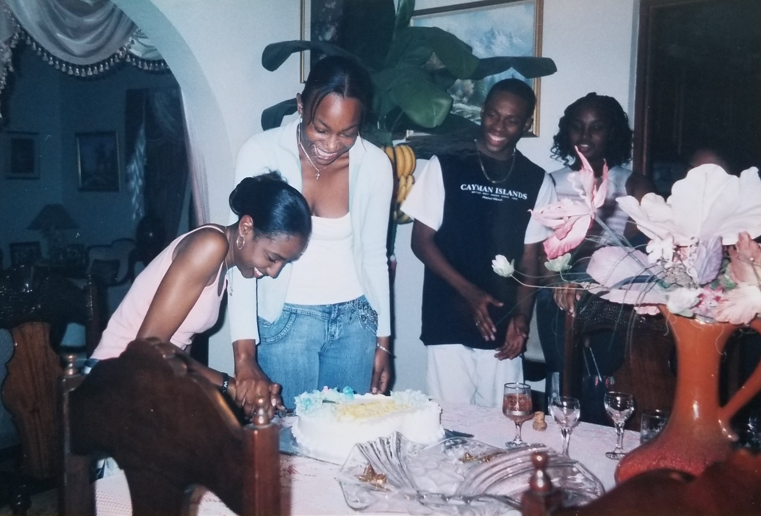 Najwah celebrating her 18th birthday in Jamaica