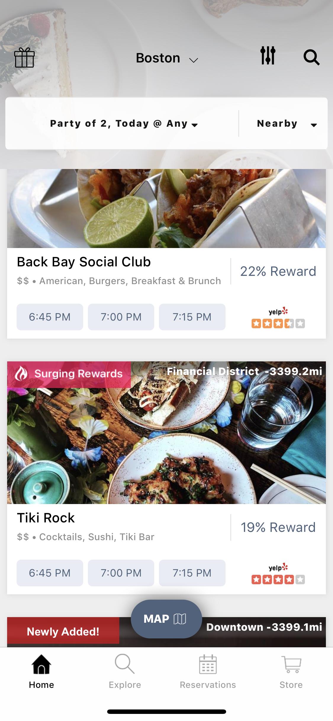 Main Seated App Screen