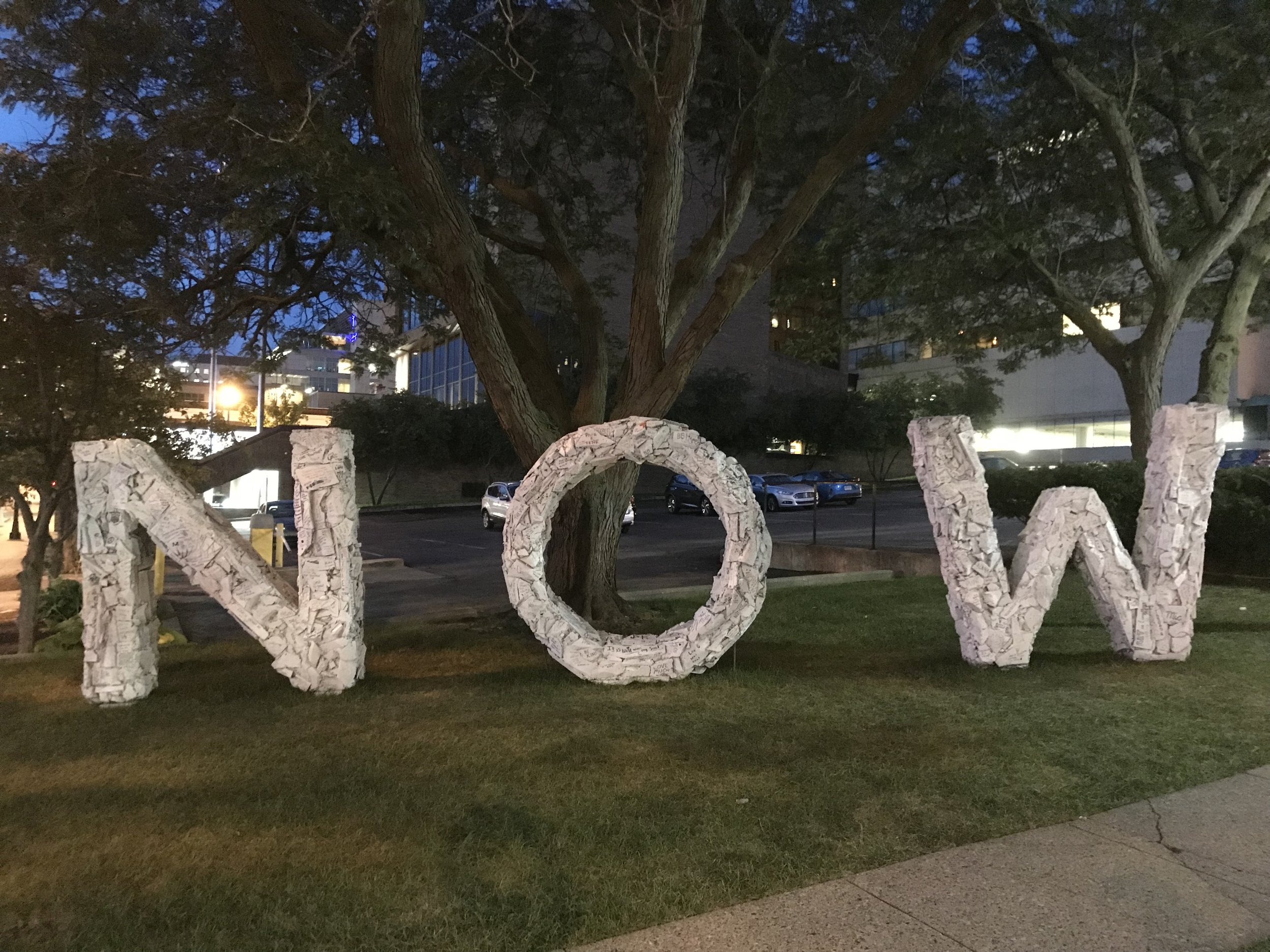 """The """"NOW"""" by Mic created for the 2108 ArtPrize in Grand Rapids, Michigan.  This piece is available to purchase please contact Mic for more information and click on the """"NEWS"""""""