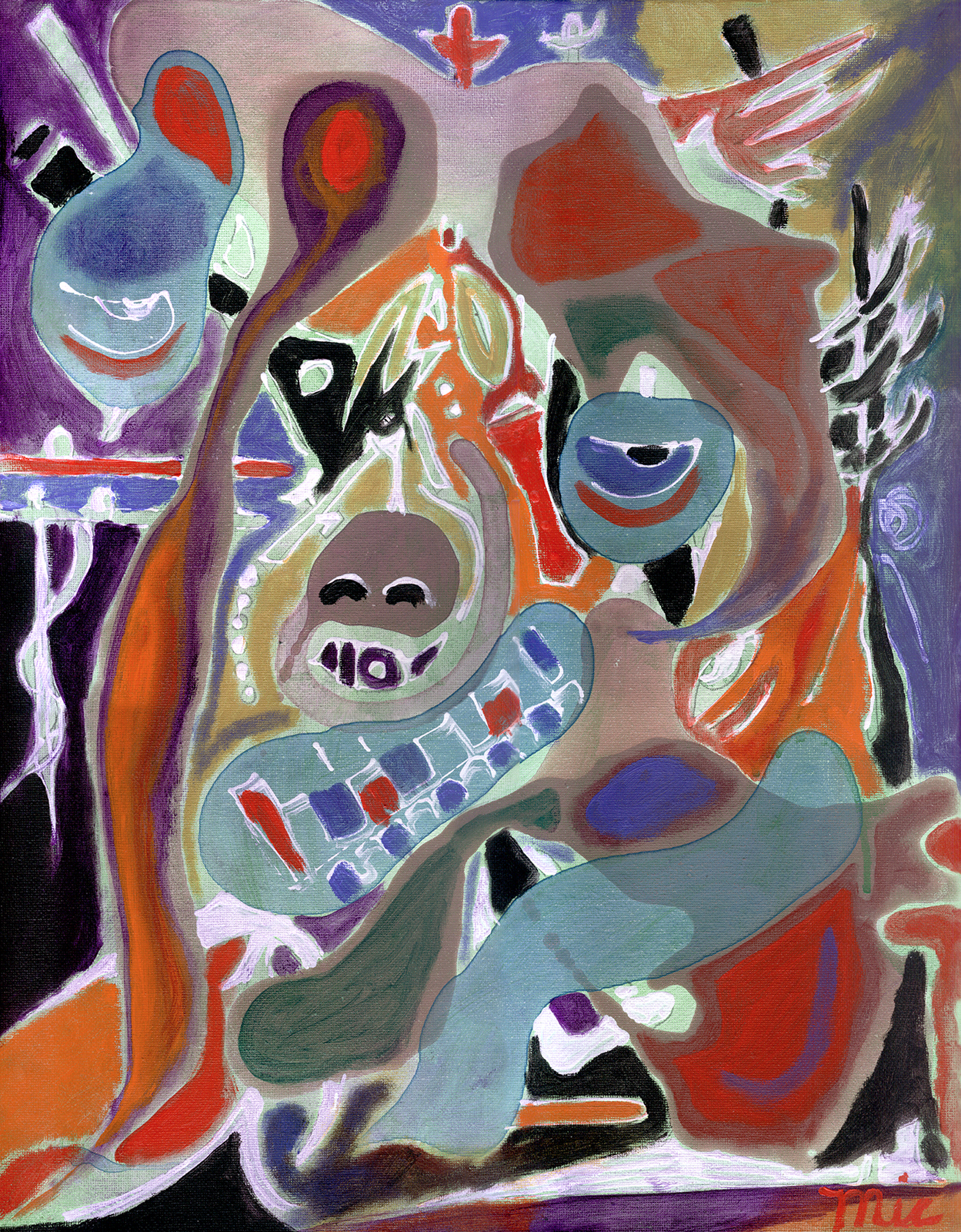 Jerry Garcia in the Abstract - Private collection Lorinda GreerGiclee Limited Edition and canvas prints are available. Please visit the prints gallery.