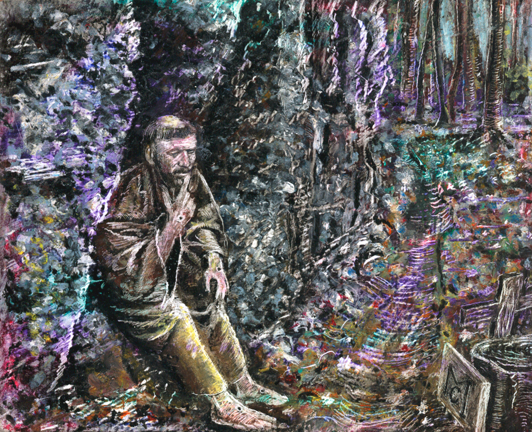 """""""Contemplation of St. Francis"""" - Oil Pastel Private collection """"Unknown""""Giclee Limited Edition and canvas prints are available. Please visit the prints gallery."""
