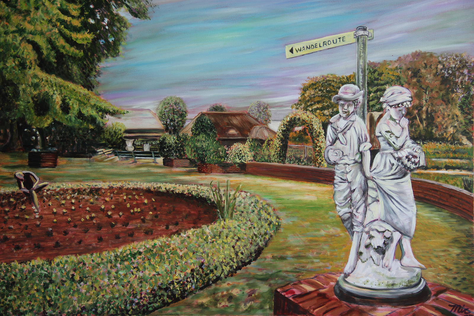 """""""Wandelroute"""" Netherlands - Oil on Italian canvas, Private Collection Bob and Marcy Roth.Giclee Limited Edition and canvas prints are available. Please visit the prints gallery."""
