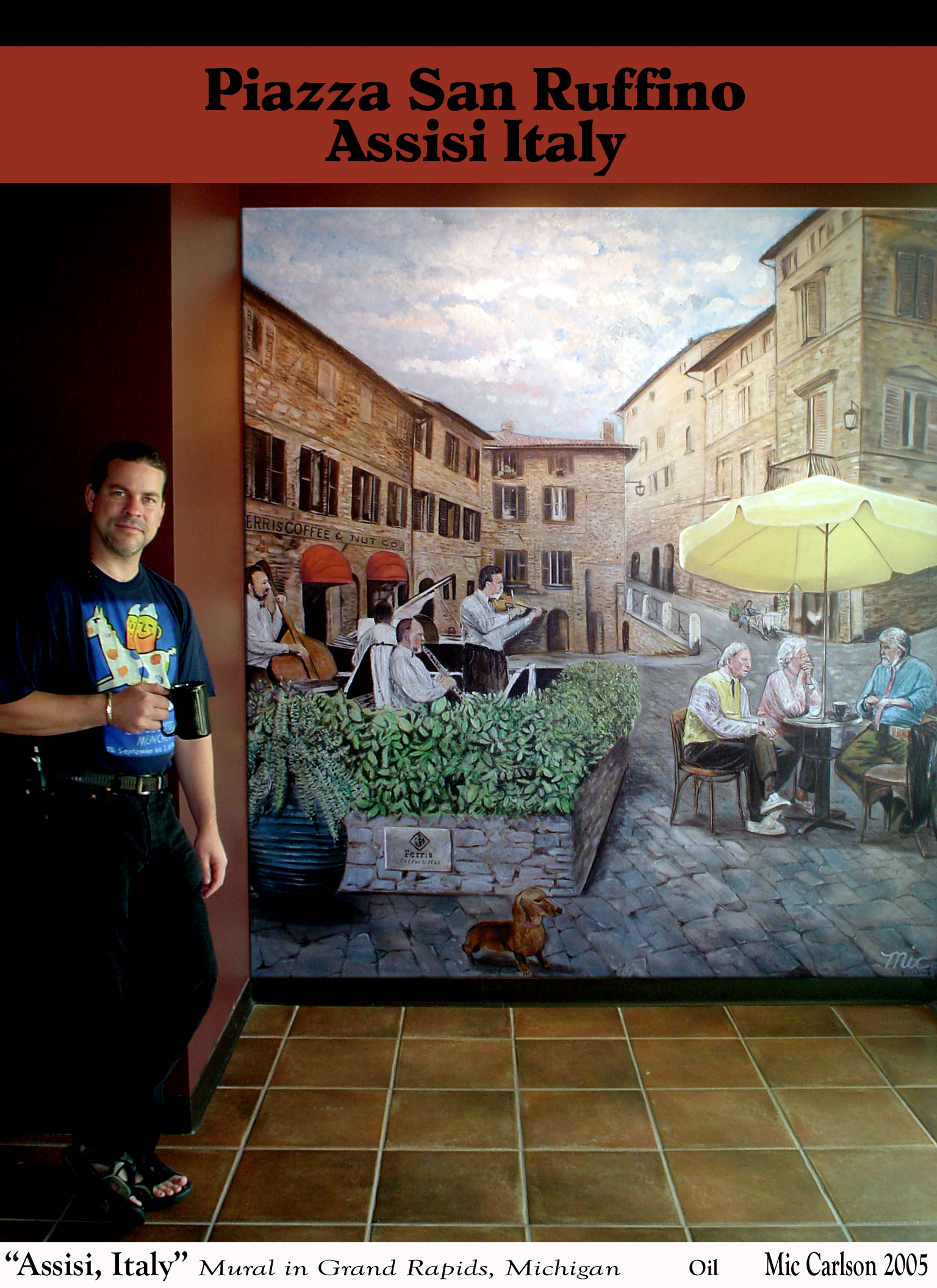 """""""Piazza San Rufino"""", Assisi, Previously located at Ferris Coffee and Nut, Grand Rapids, Michigan"""
