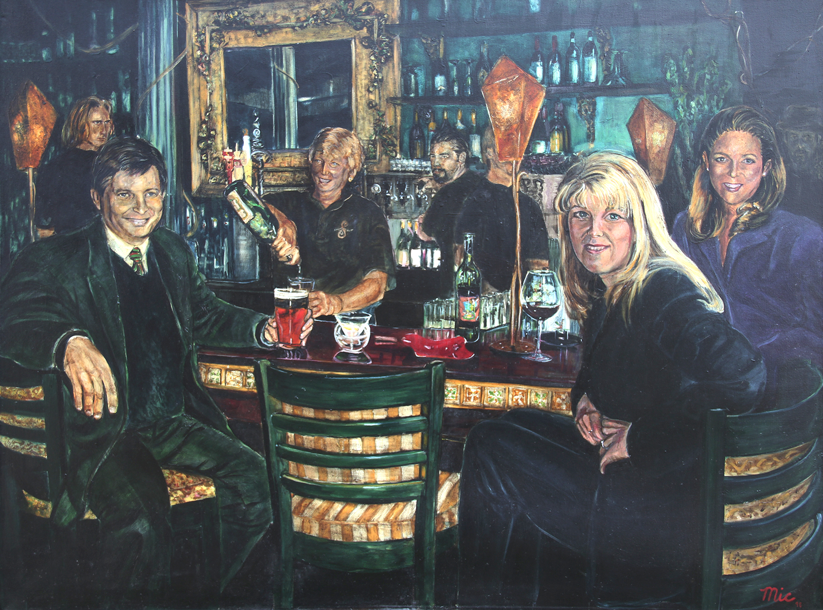 """""""Bar at the Siarra Room"""". Previously located in Grand Rapids, Michigan"""
