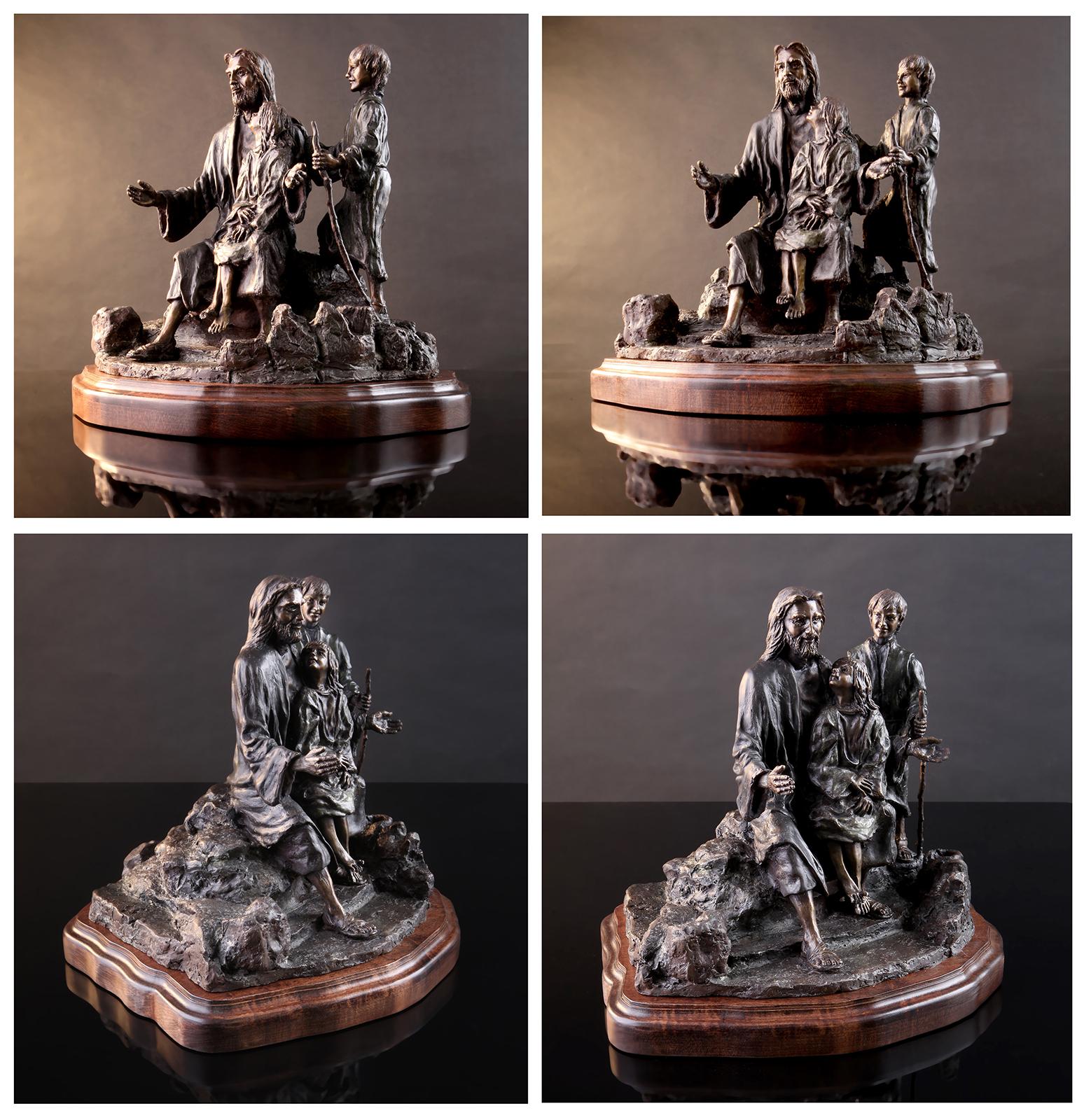 Jesus and the Children Bronze Maquette
