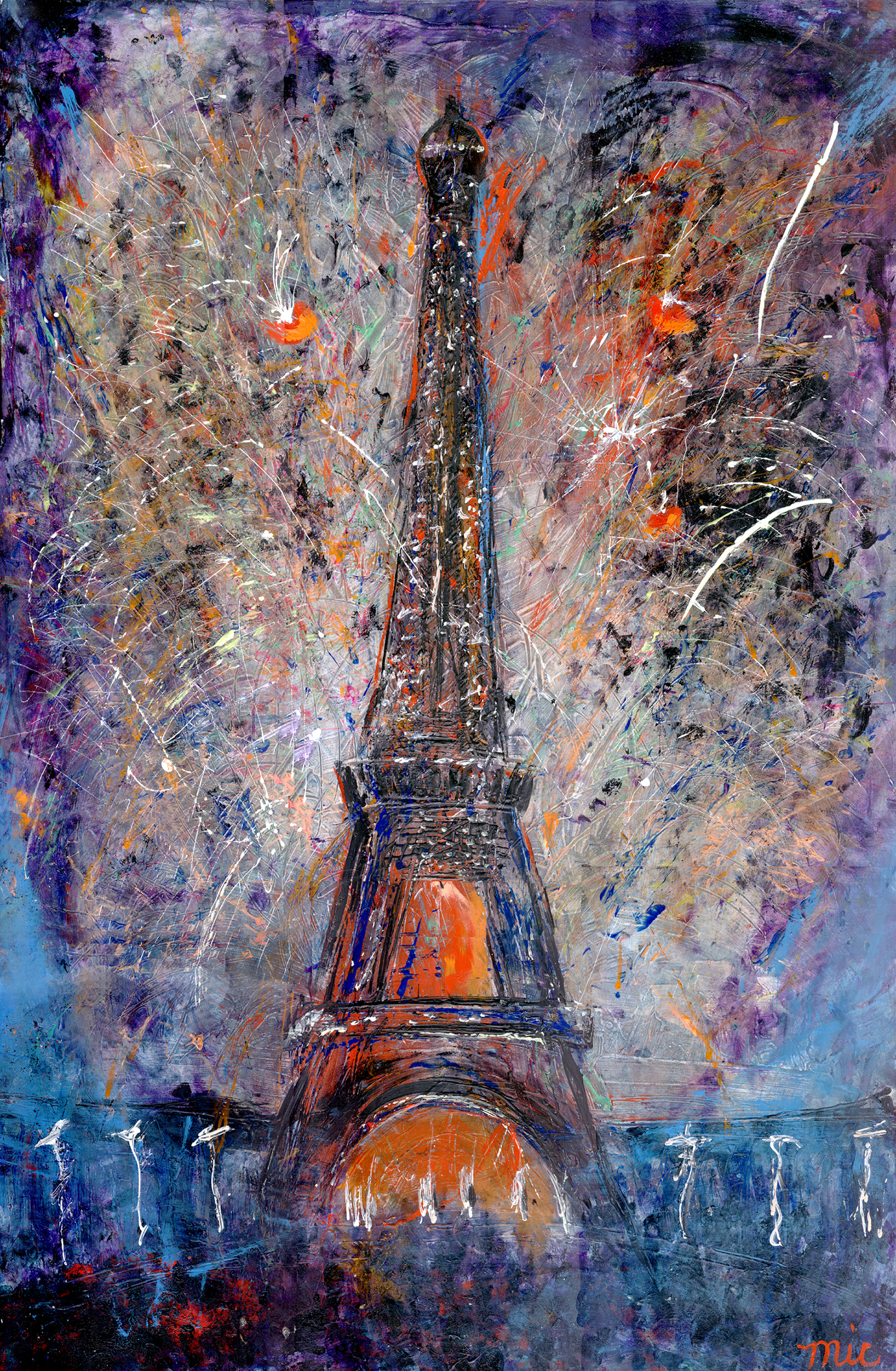 Bastile Day at the Eiffel Tower - Private Collection Jodi and Kerry SmithGiclee Limited Edition and canvas prints are available. Please visit the prints gallery.