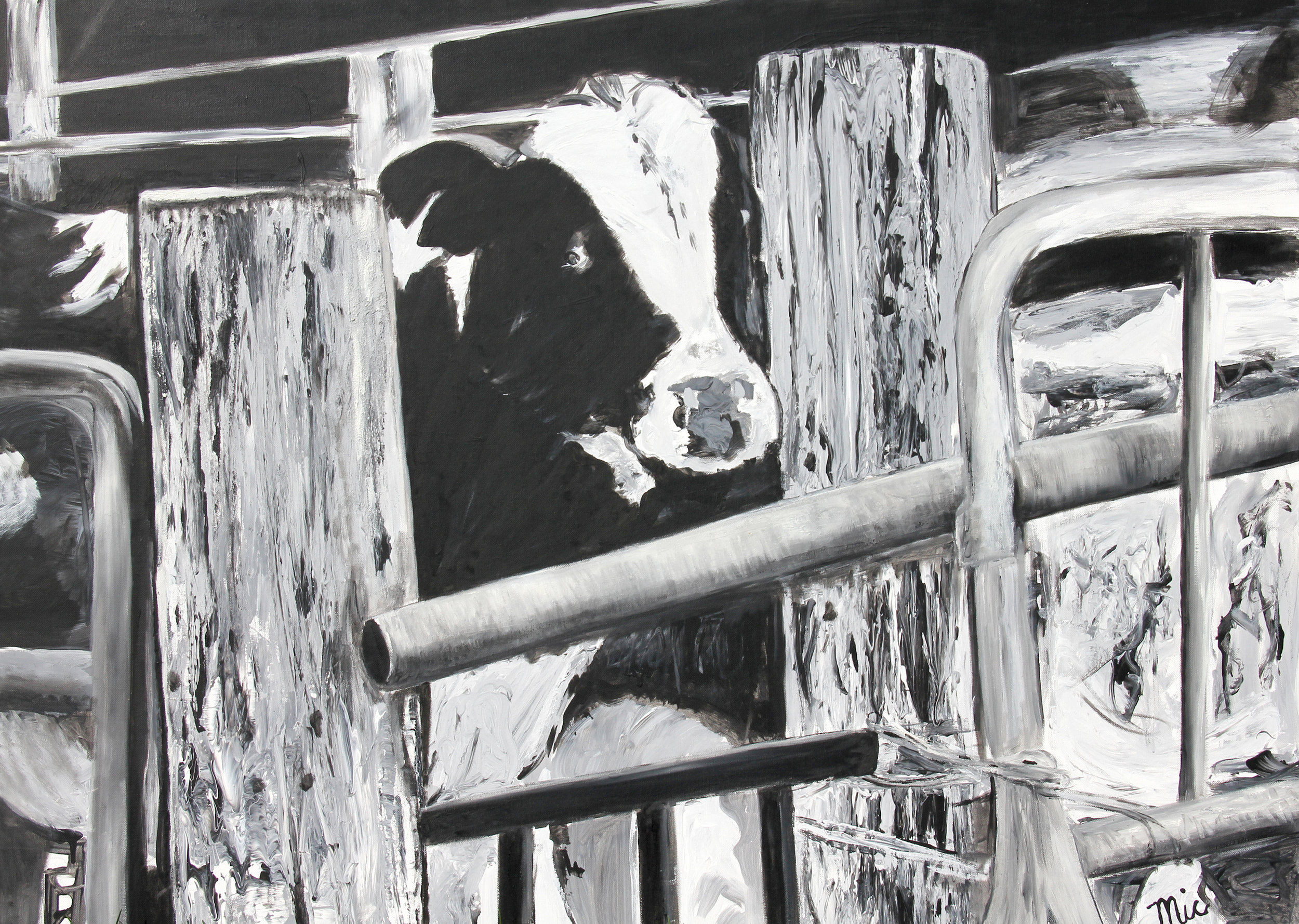 """""""Can you let me out"""" - Oil on Canvas Private collection of Tommy and Emily FitzgeraldGiclee Limited Edition and canvas prints are available. Please visit the prints gallery."""