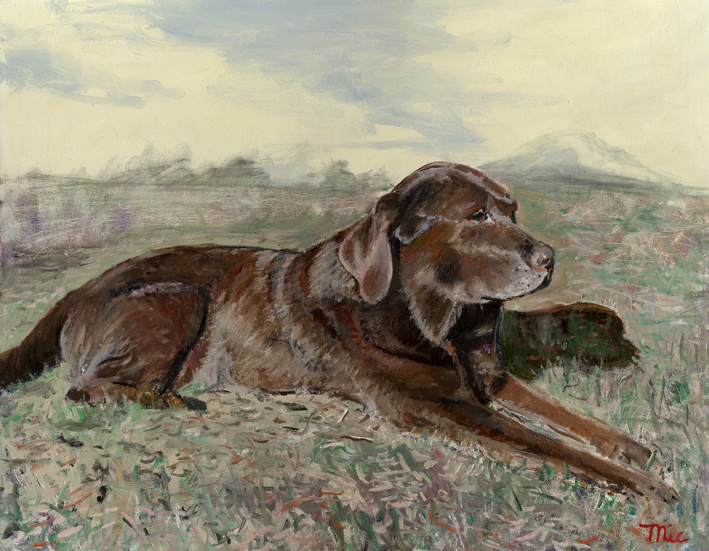 """Mans Best Friend"" - Private Collection of Paul Miller.Giclee Limited Edition and canvas prints are available. Please visit the prints gallery."