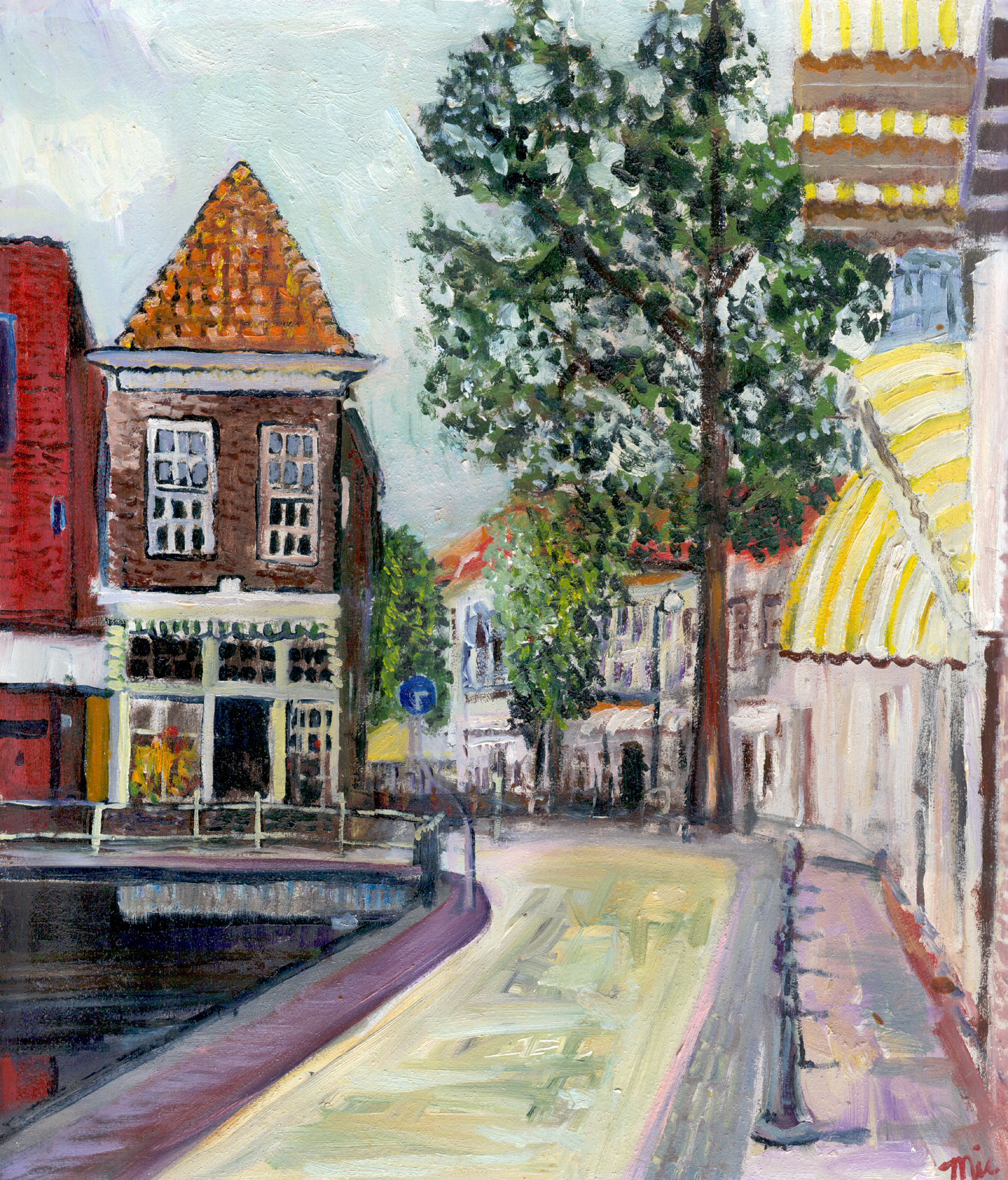 "Dutch town City by the Noordzee - Oil on panel 12"" x 15"" $3,200Giclee Limited Edition and canvas prints are available. Please visit the prints gallery."