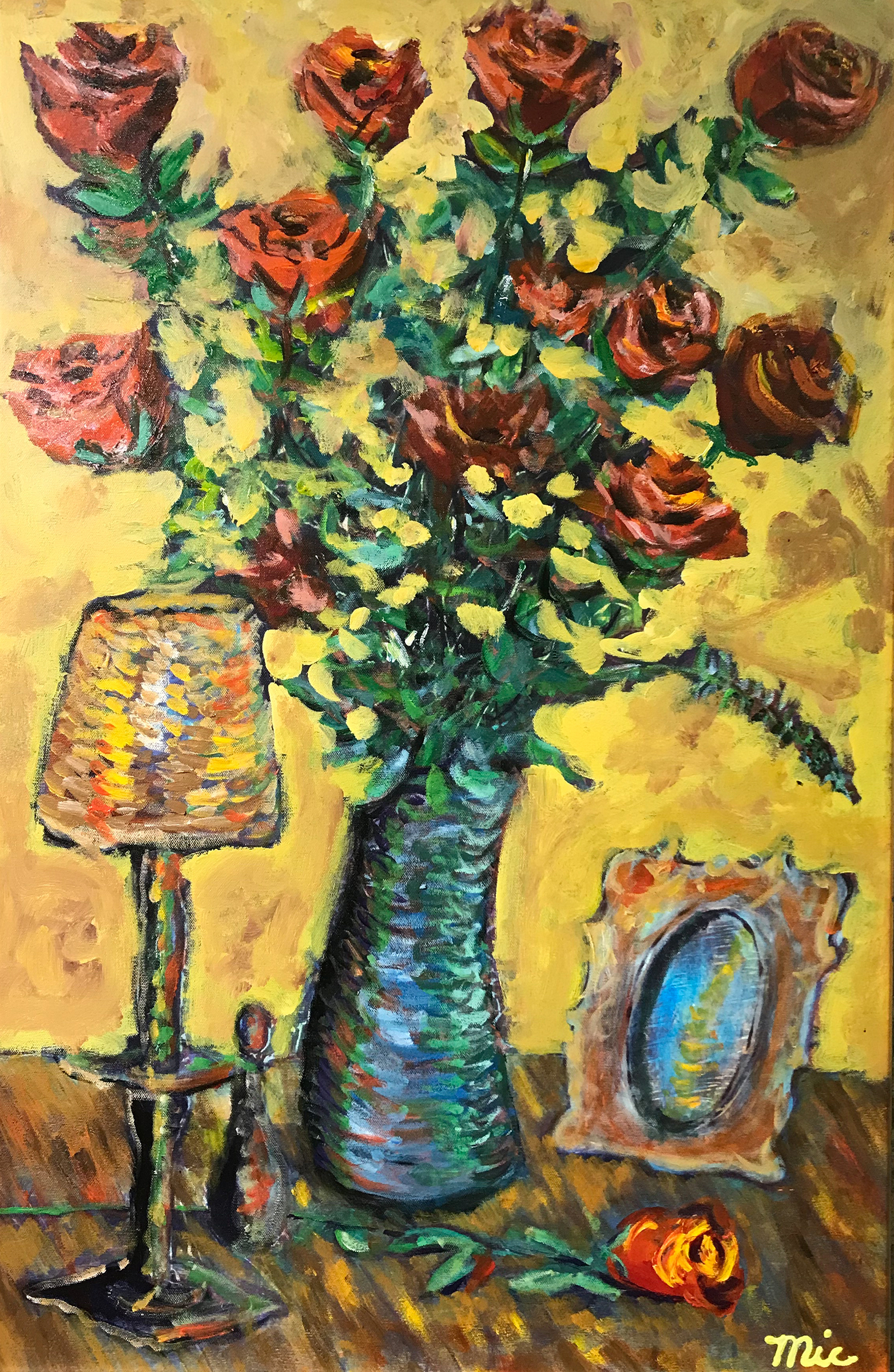 """Fallen Orange Rose"" - Acrylic on canvas Private collection Cascade Art GalleryGiclee Limited Edition and canvas prints are available. Please visit the prints gallery."