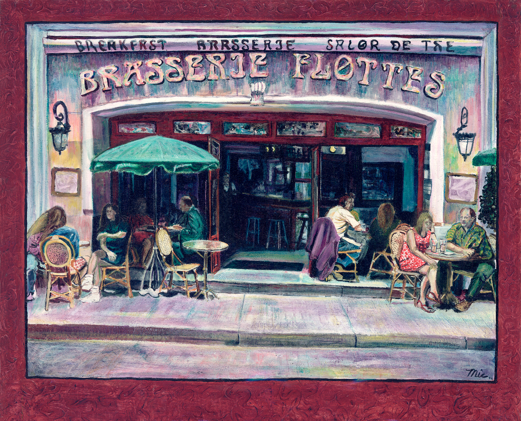 """French Cafe"" - Oil; on panel Private collection Ben and Linda Wood.Giclee Limited Edition and canvas prints are available. Please visit the prints gallery."
