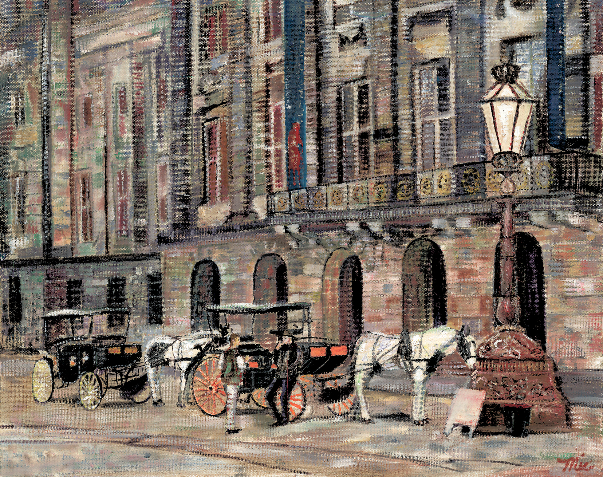 """Hansom Cab"" Amsterdam - Oil on panel, Private collection Gordy and Sue CarlsonGiclee Limited Edition and canvas prints are available. Please visit the prints gallery."