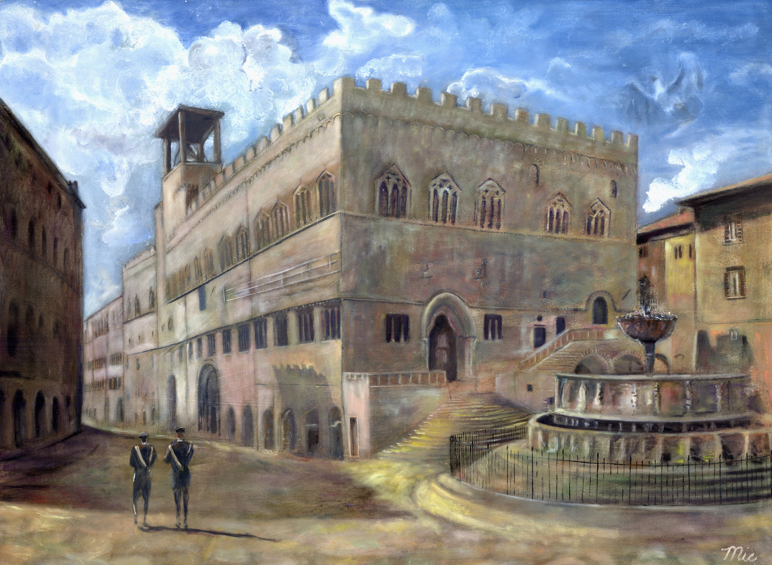 Fotanna Maggiore, Perugia, Italy - Oil on Italian Panel $7000Giclee Limited Edition and canvas prints are available. Please visit the prints gallery.