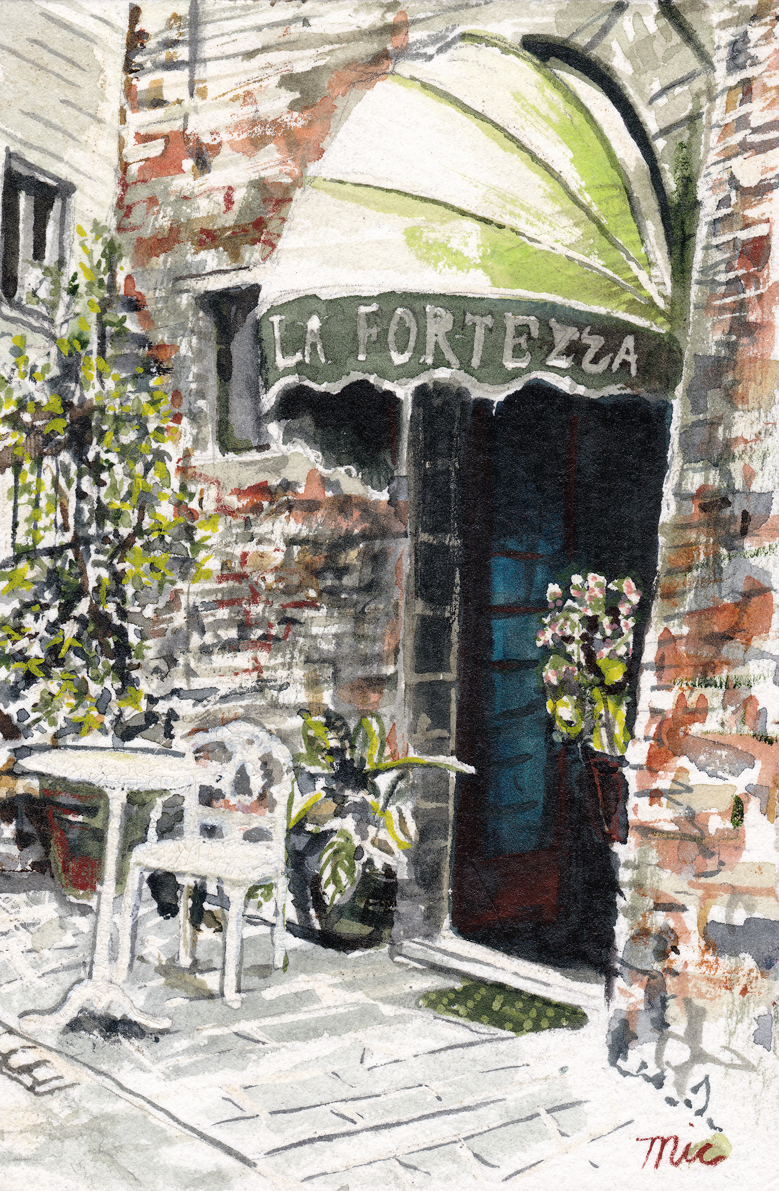 """La Porta Fortezza Assisi, Italy - Watercolor 4"" x 6"" $800Giclee Limited Edition and canvas prints are available. Please visit the prints gallery."