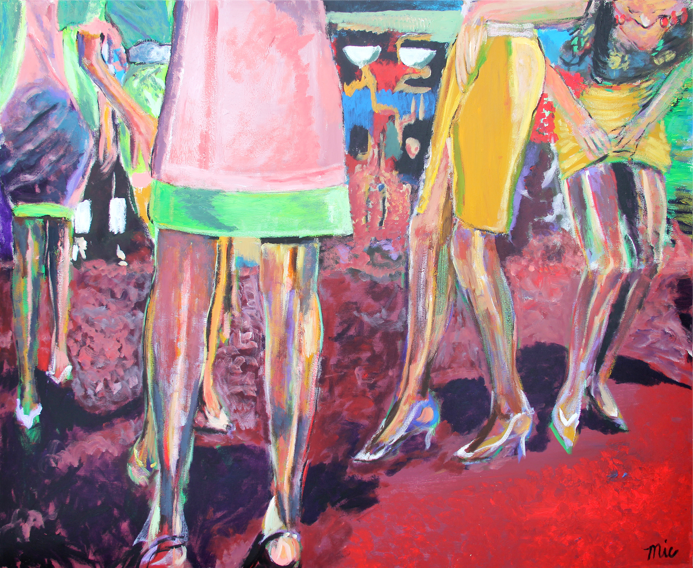 """""""Great Legs"""" - Oil on Canvas Private collection of Tommy and Emily FitzgeraldGiclee Limited Edition and canvas prints are available. Please visit the prints gallery."""