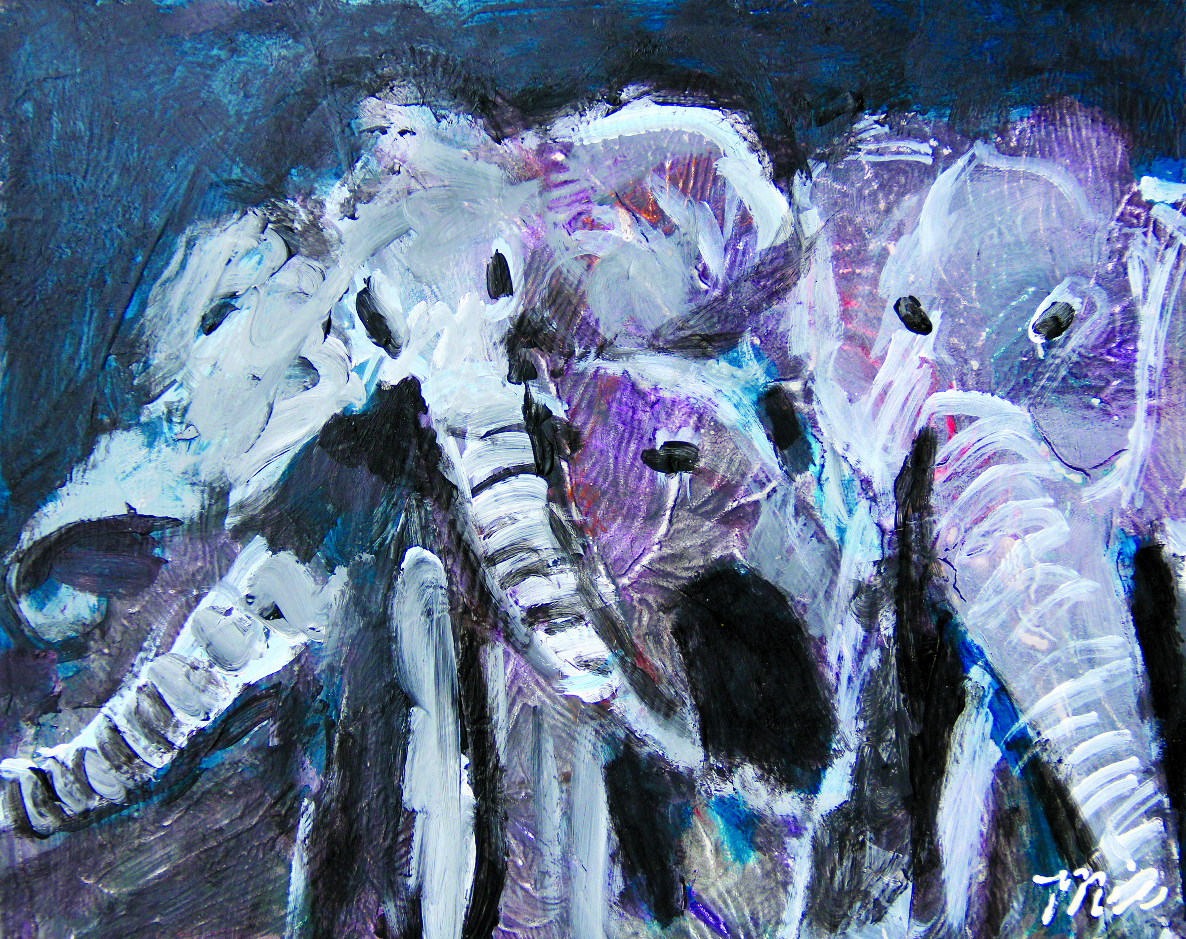 Pachyderms - Private collection Lorinda GreerGiclee Limited Edition and canvas prints are available. Please visit the prints gallery.