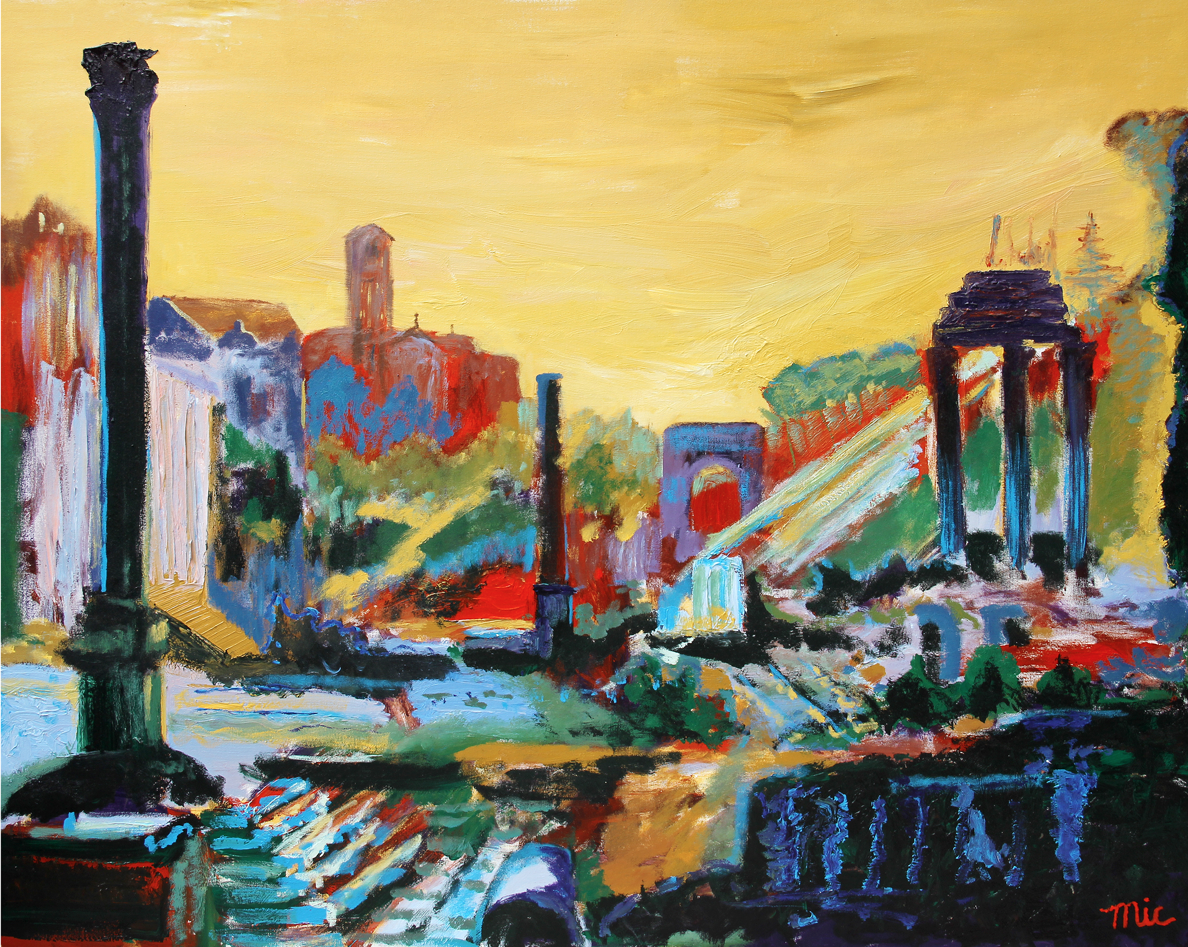 Roman Forum - Acrylic on Canvas Private Collection of Ed and Rachel PerdueGiclee Limited Edition and canvas prints are available. Please visit the prints gallery.