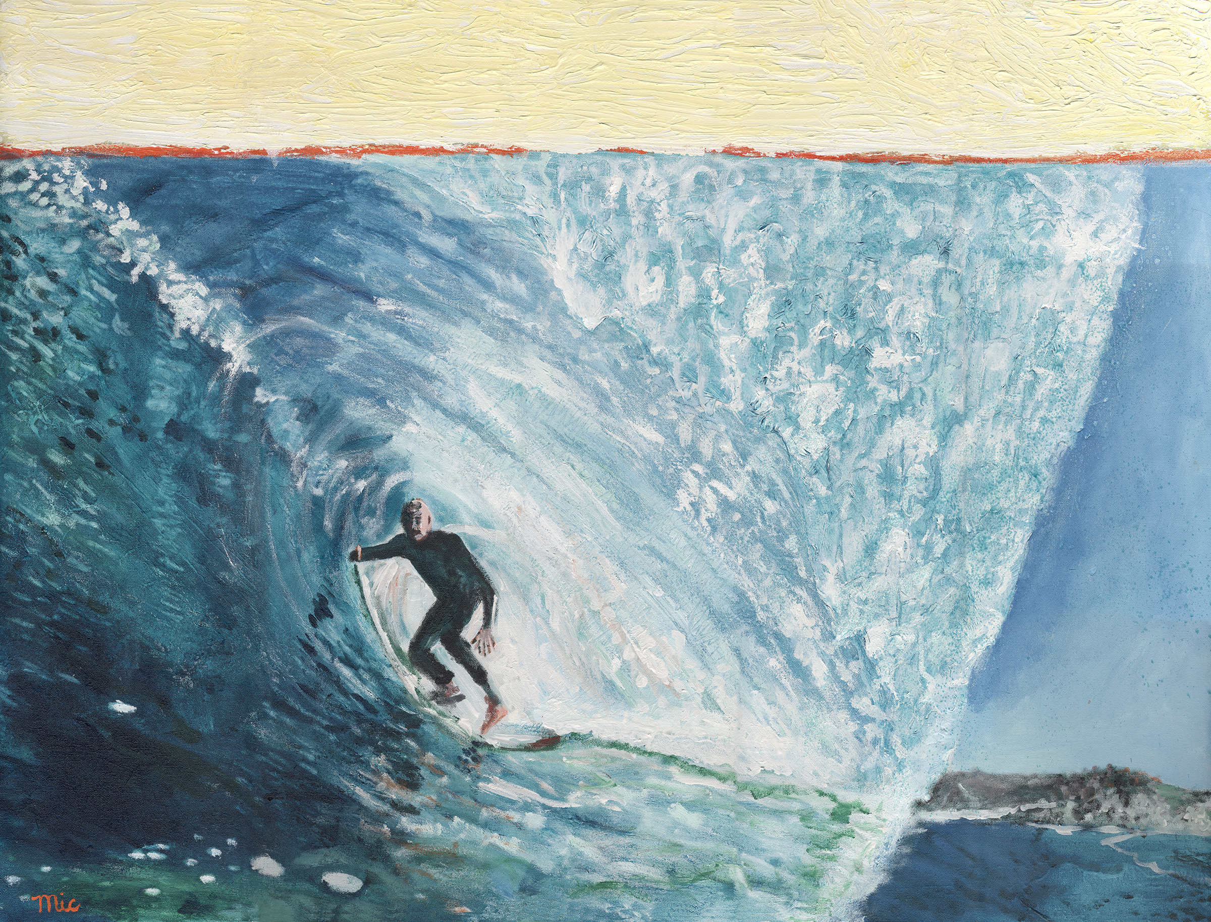 Abstract Surfing - Acrylic on Canvas Private collection Mark StankusGiclee Limited Edition and canvas prints are available. Please visit the prints gallery.