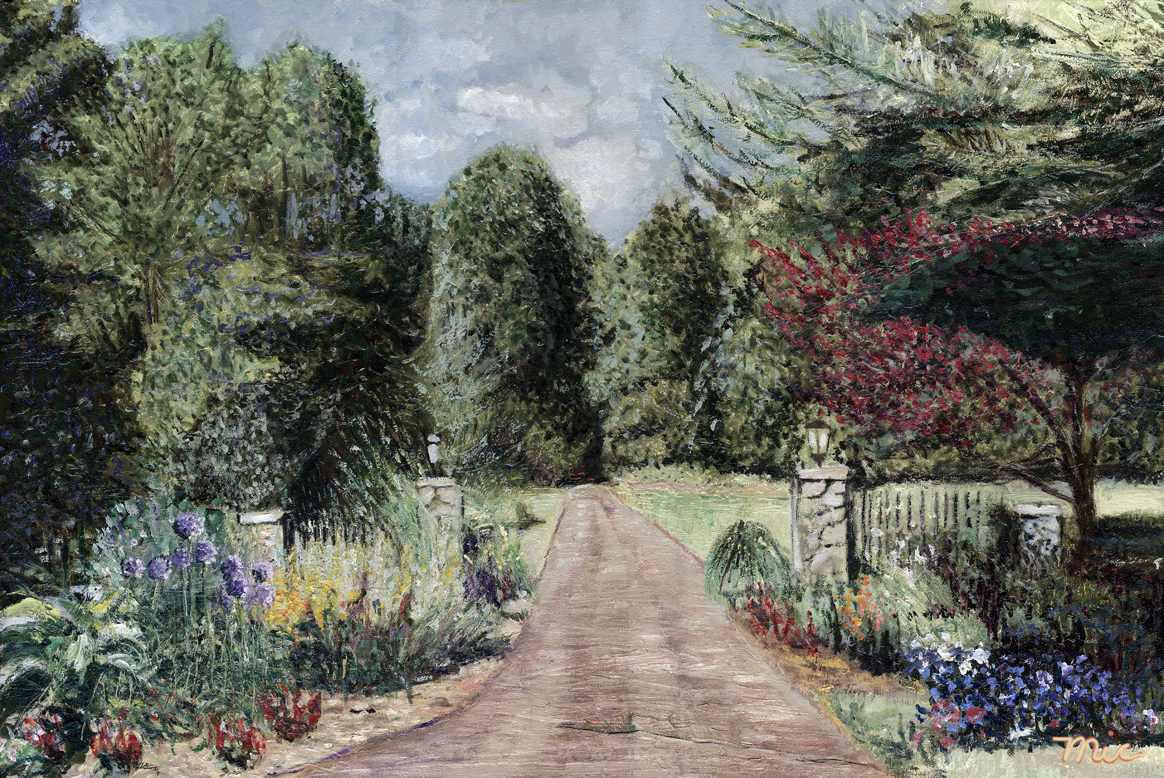 Private Property, Rockford Michigan - Oil on panel, Private collection Art SpaldingGiclee Limited Edition and canvas prints are available. Please visit the prints gallery.