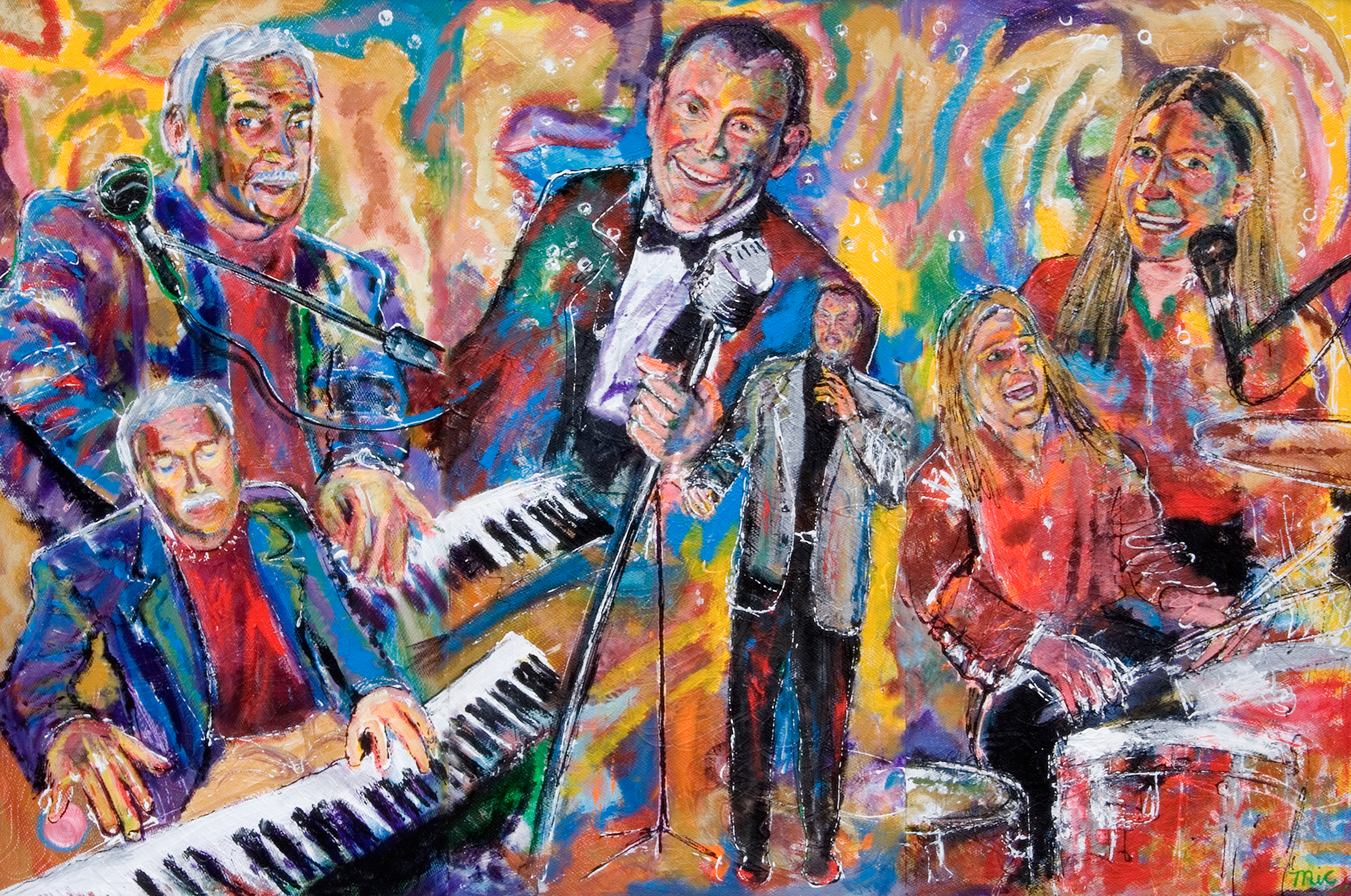 Tommy Hagen Trio - Oil on panel Private collection Greg Gilmore. (Location Unknown)Giclee Limited Edition and canvas prints are available. Please visit the prints gallery.
