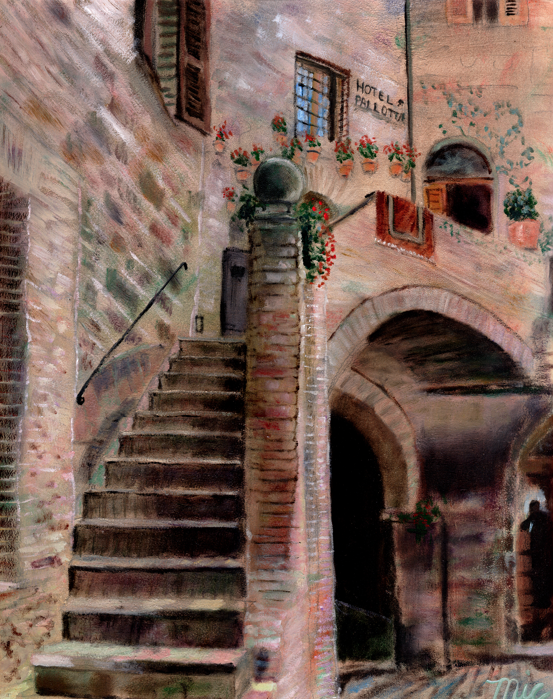 """La Pallotta"" Assisi, Italy - Oil on Italian Panel Private Collection (can't remember)Giclee Limited Edition and canvas prints are available. Please visit the prints gallery."