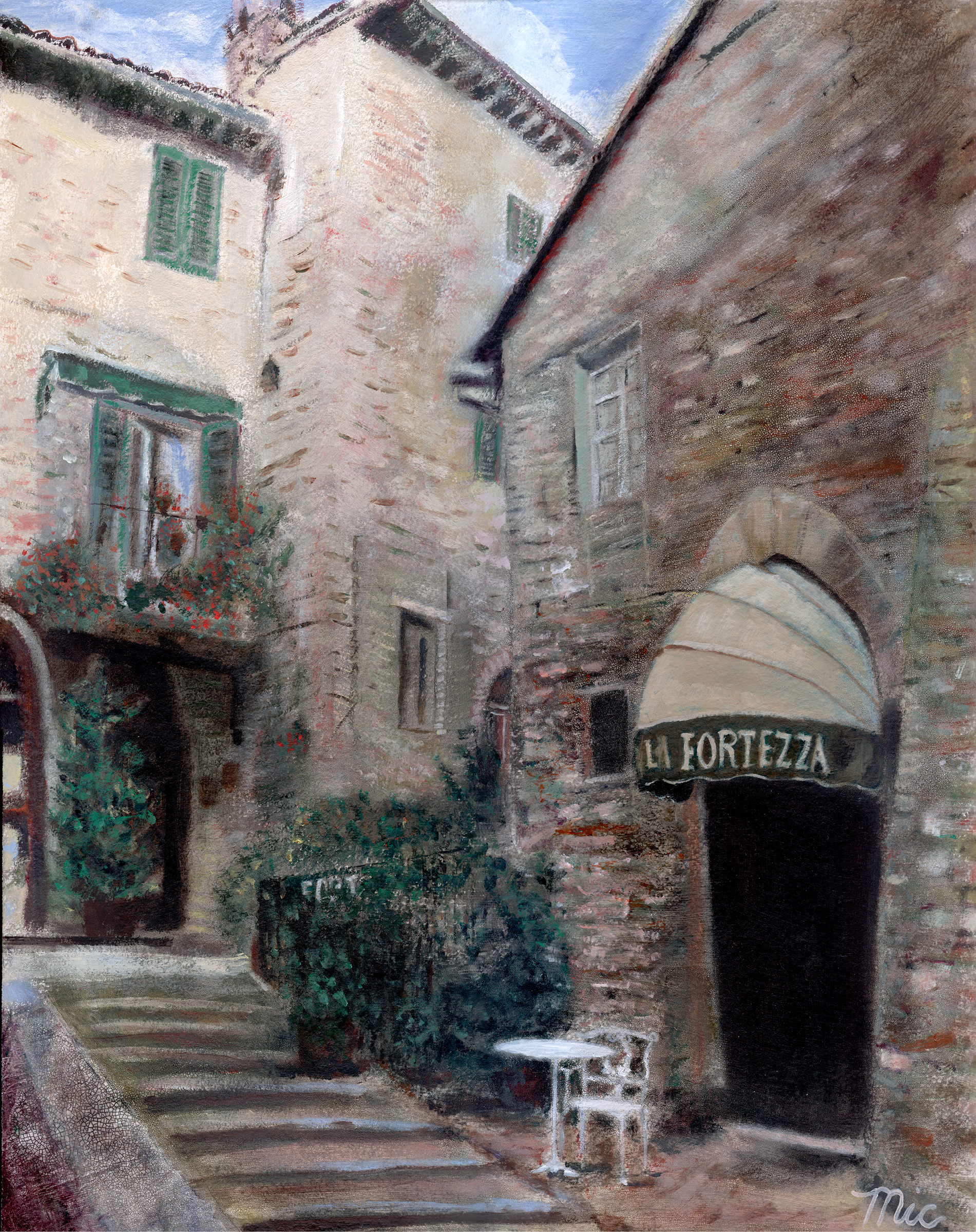 La Fortezza - Oil on Italian Panel Private Collection (can't remember)Giclee Limited Edition and canvas prints are available. Please visit the prints gallery.