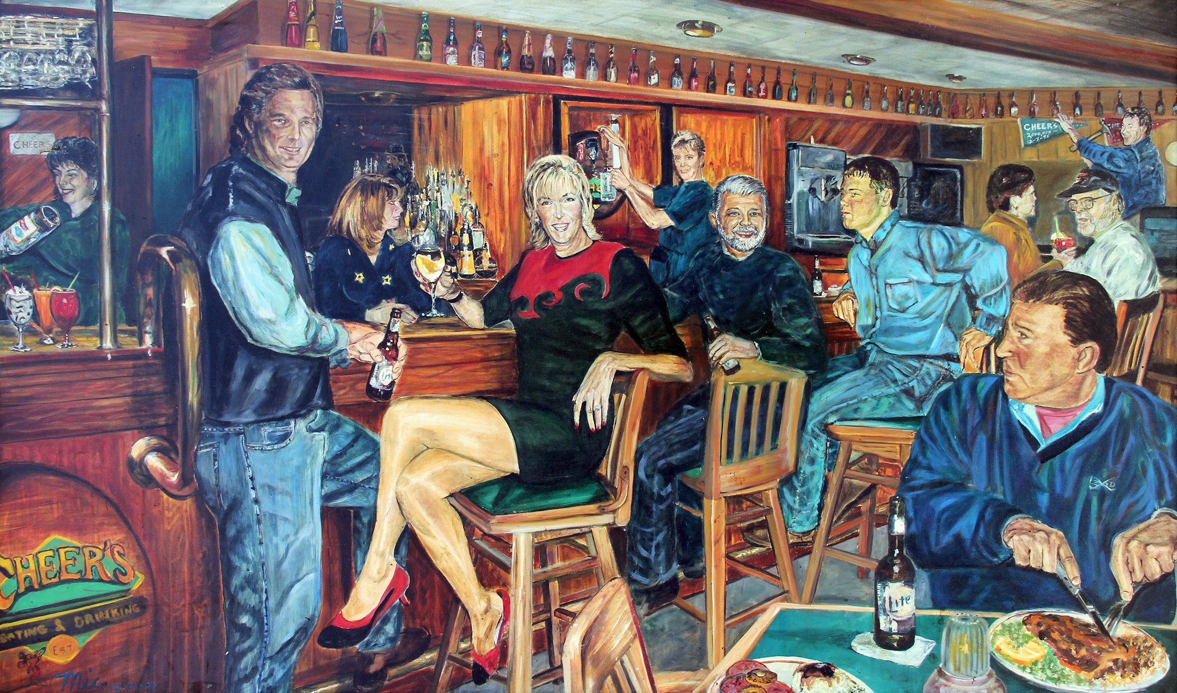 Cheers good time saloon - Private Collection Jim WilsonGiclee Limited Edition and canvas prints are available. Please visit the prints gallery.