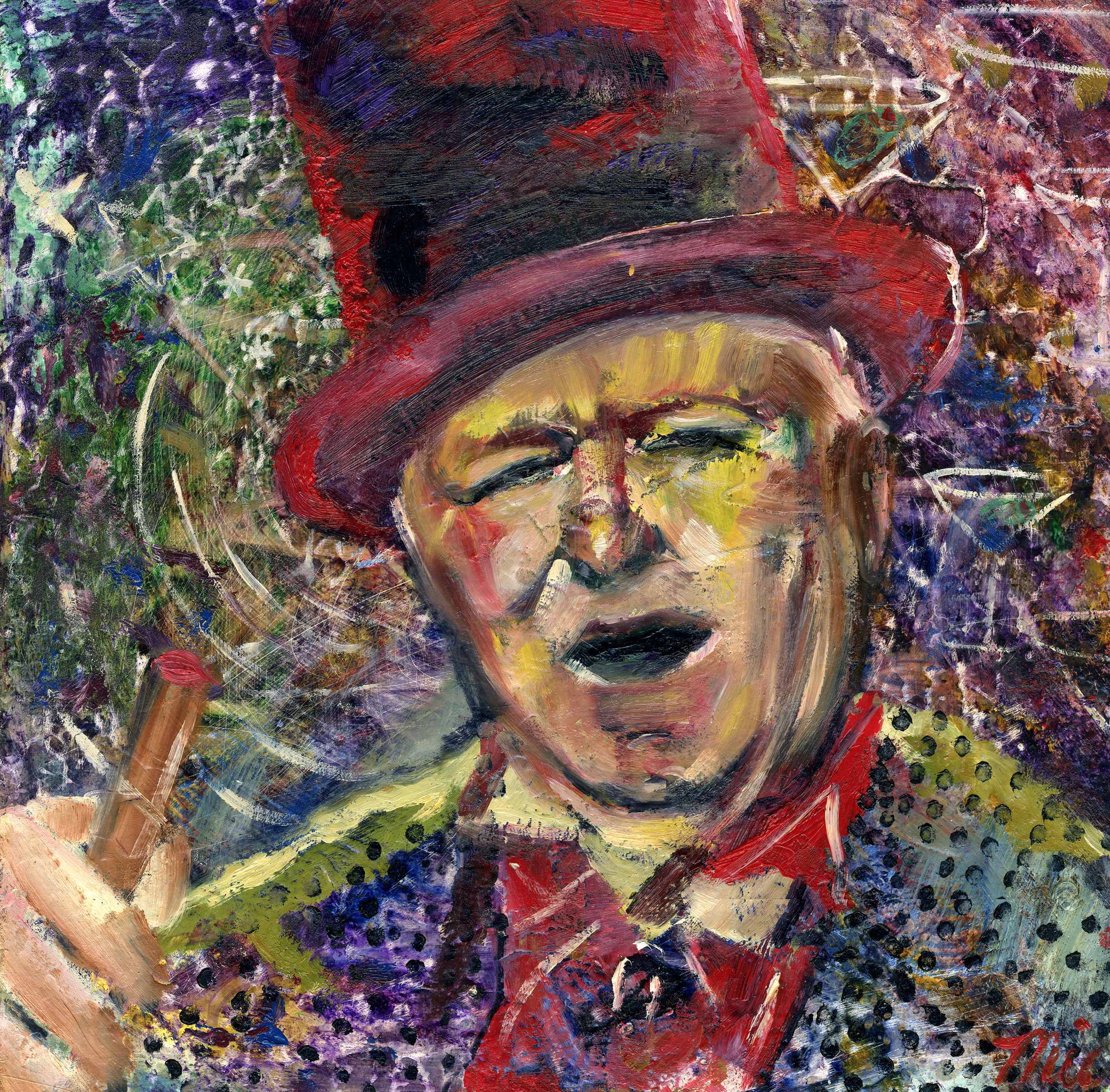 WC Fields Never ending hangover - Oilon on panel Private collection Dan SilverthornGiclee Limited Edition and canvas prints are available. Please visit the prints gallery.