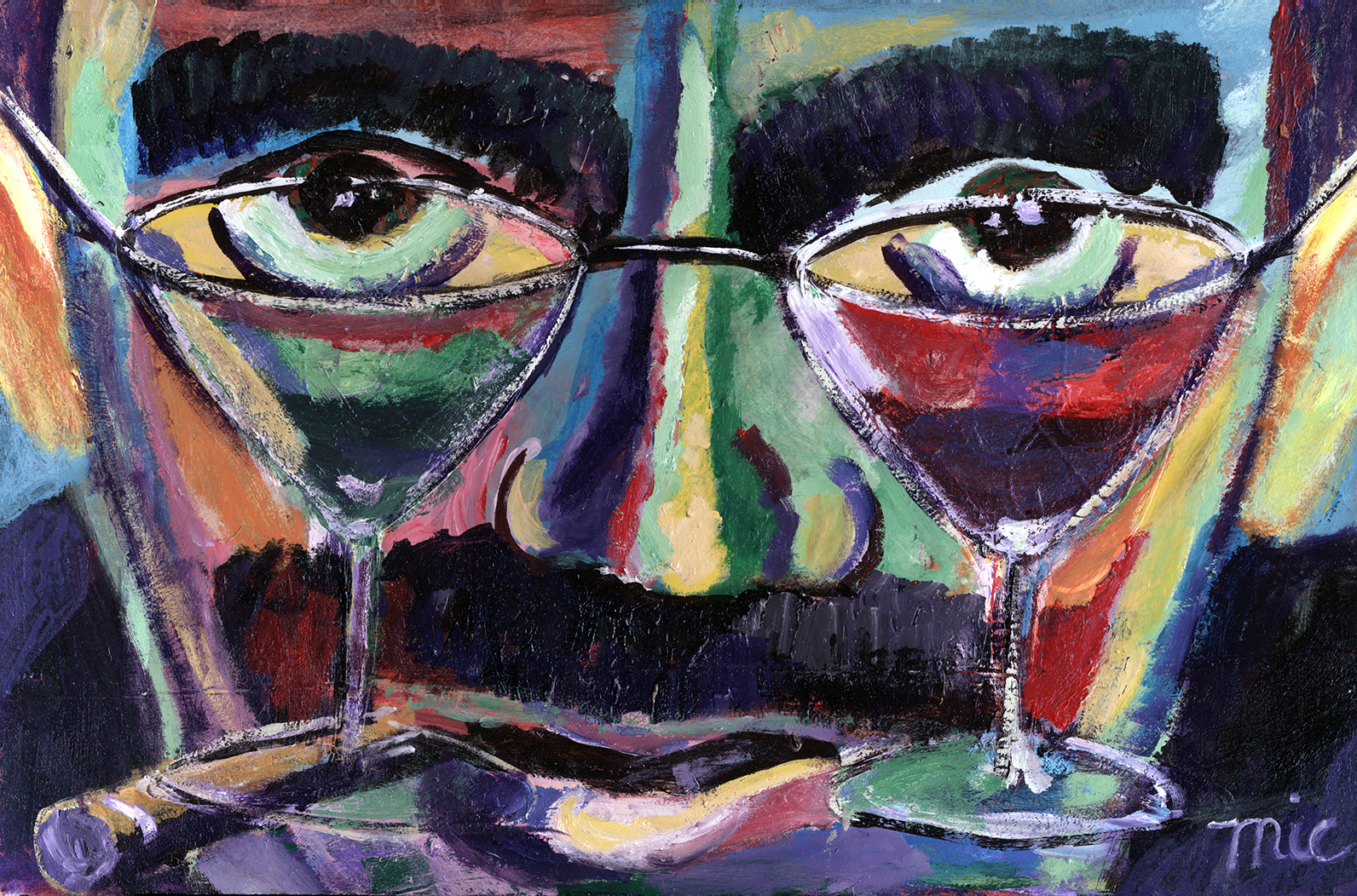 Groucho Martini's - Oil on Italian canvas, Private Collection Steve Billmeire and Darlene FrederickGiclee Limited Edition and canvas prints are available. Please visit the prints gallery.