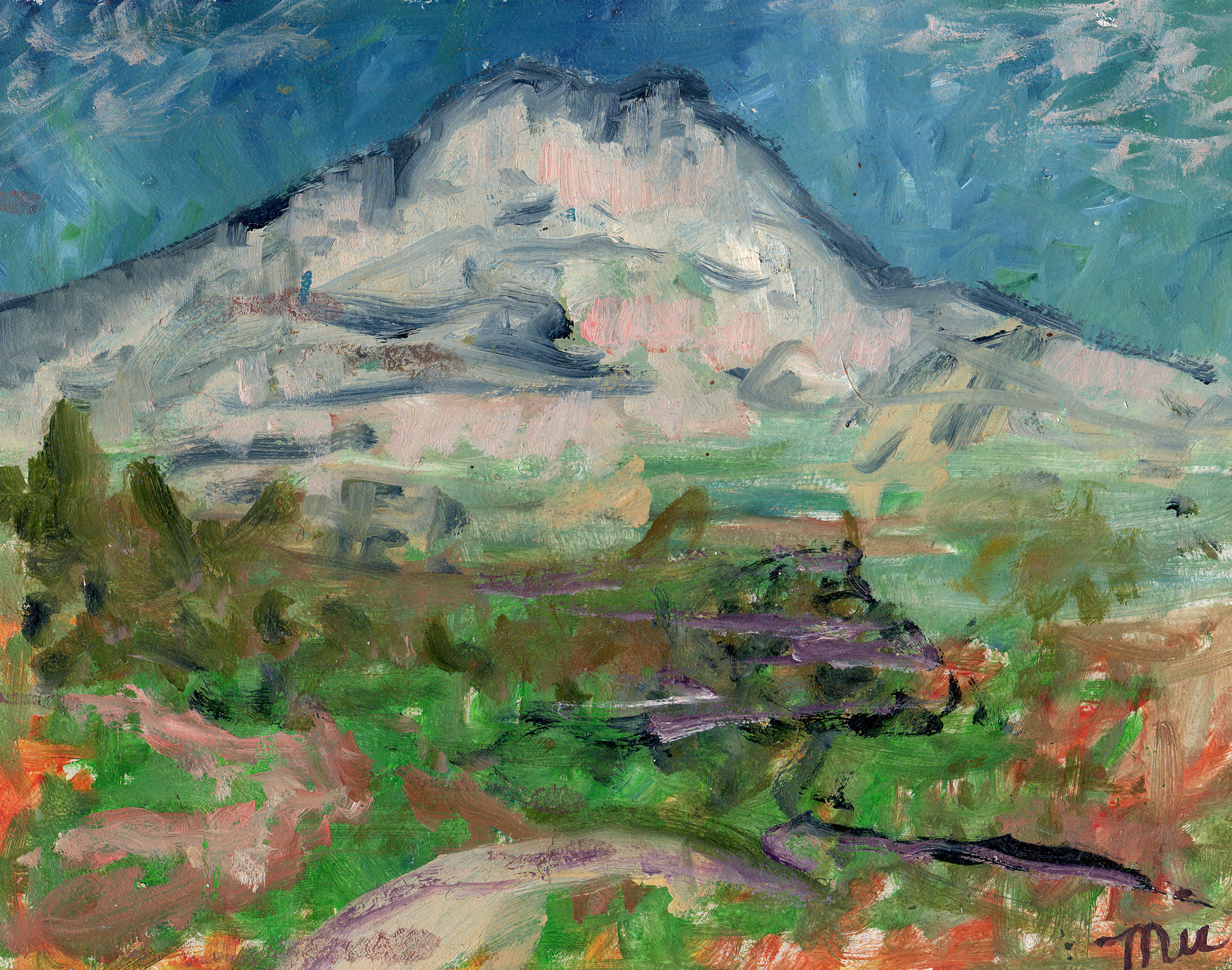 Cezanne's Mountain - Oil on PanelLate in his life in Aix en Provence, the painter Paul Cézanne painted Mount Sainte Victoire dozens of times.