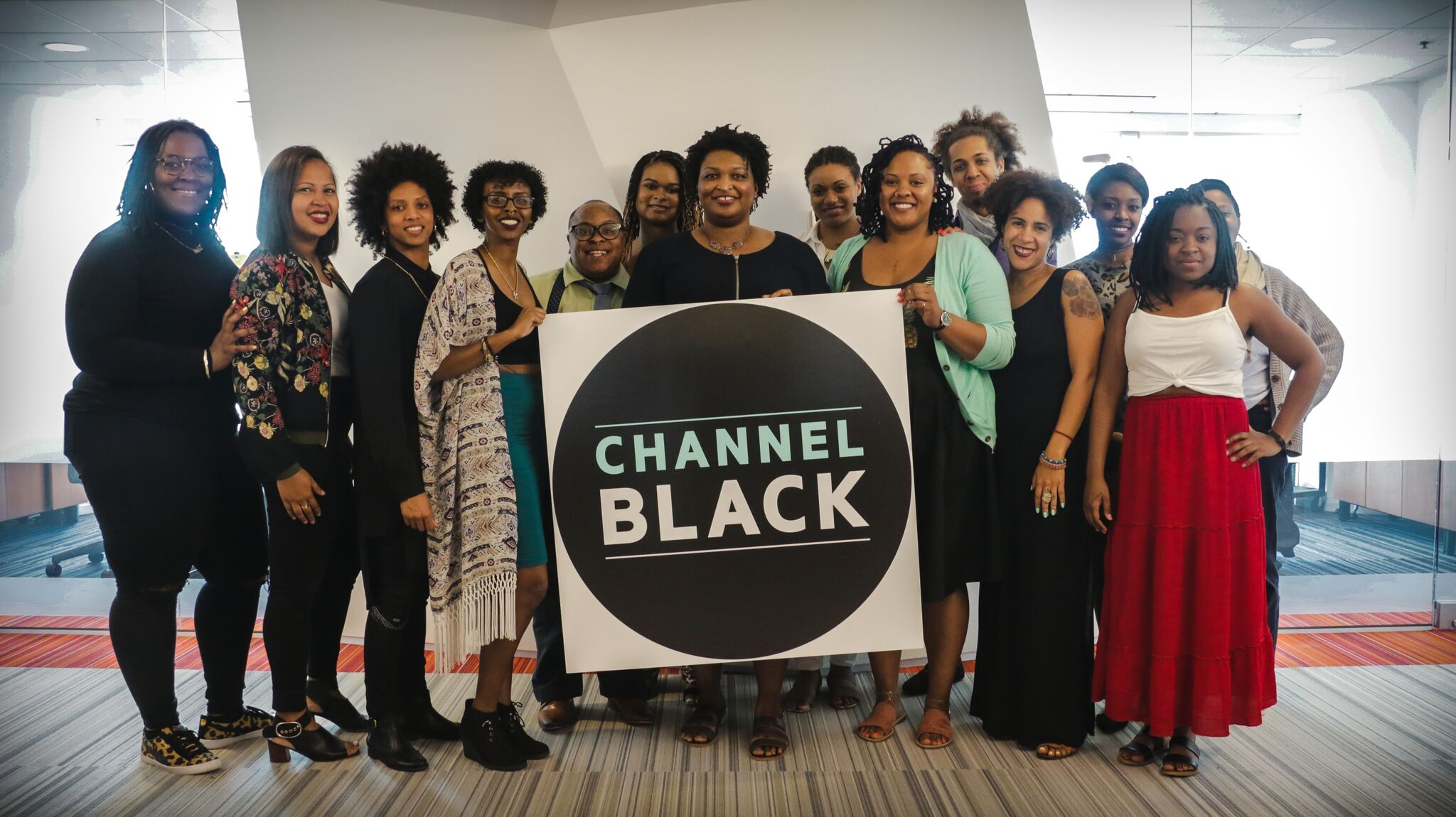 Channel Black 2017 with then state rep Stacey Abrams