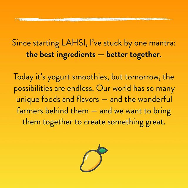 You can read more about LAHSI and our story at the link in our bio. So exciting! #drinkLAHSI
