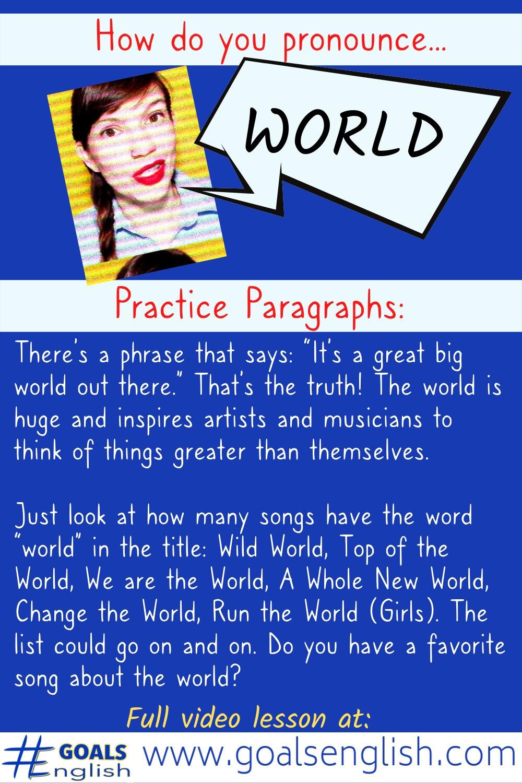 World, Word, Were: American English Pronunciation — #GOALS English
