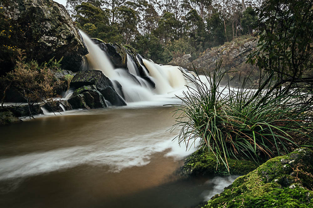 Tara Ulbrich takes a short walk to experience the falls