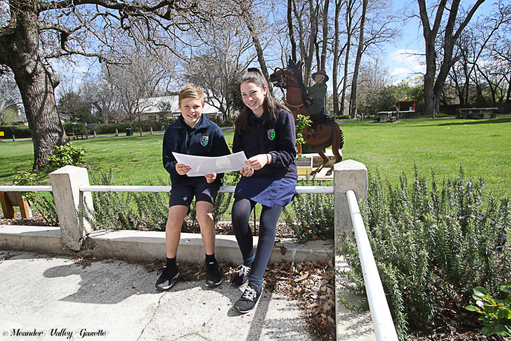 Westbury Primary grade 6 students, Jacob Clark and Amy Taylor, worked with Westbury RSL to write stories for 'Westbury Remembers'.