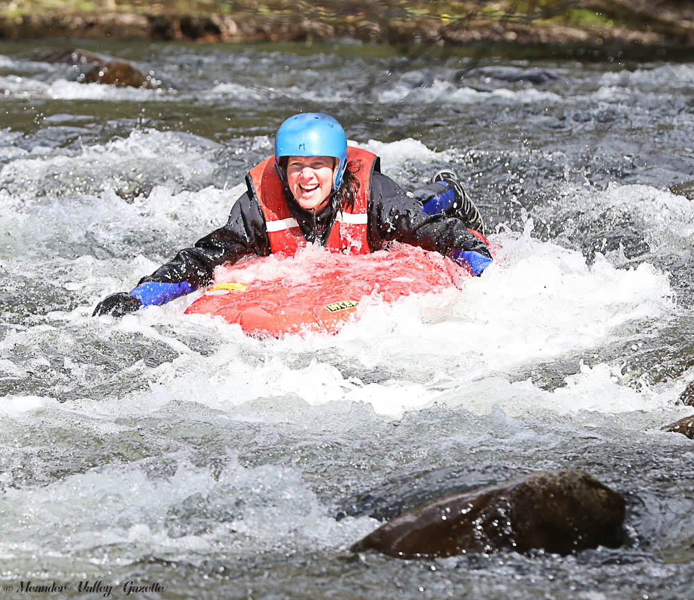 Lucy Karafilis is one of the first to take on the rapids with new adventure tourism business, Meander Wilderness Experience.