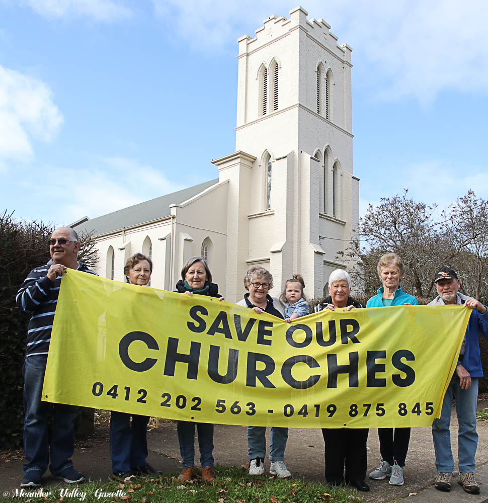 Quamby Parishioners protest the sale of their churches. Photo by Mike Moores