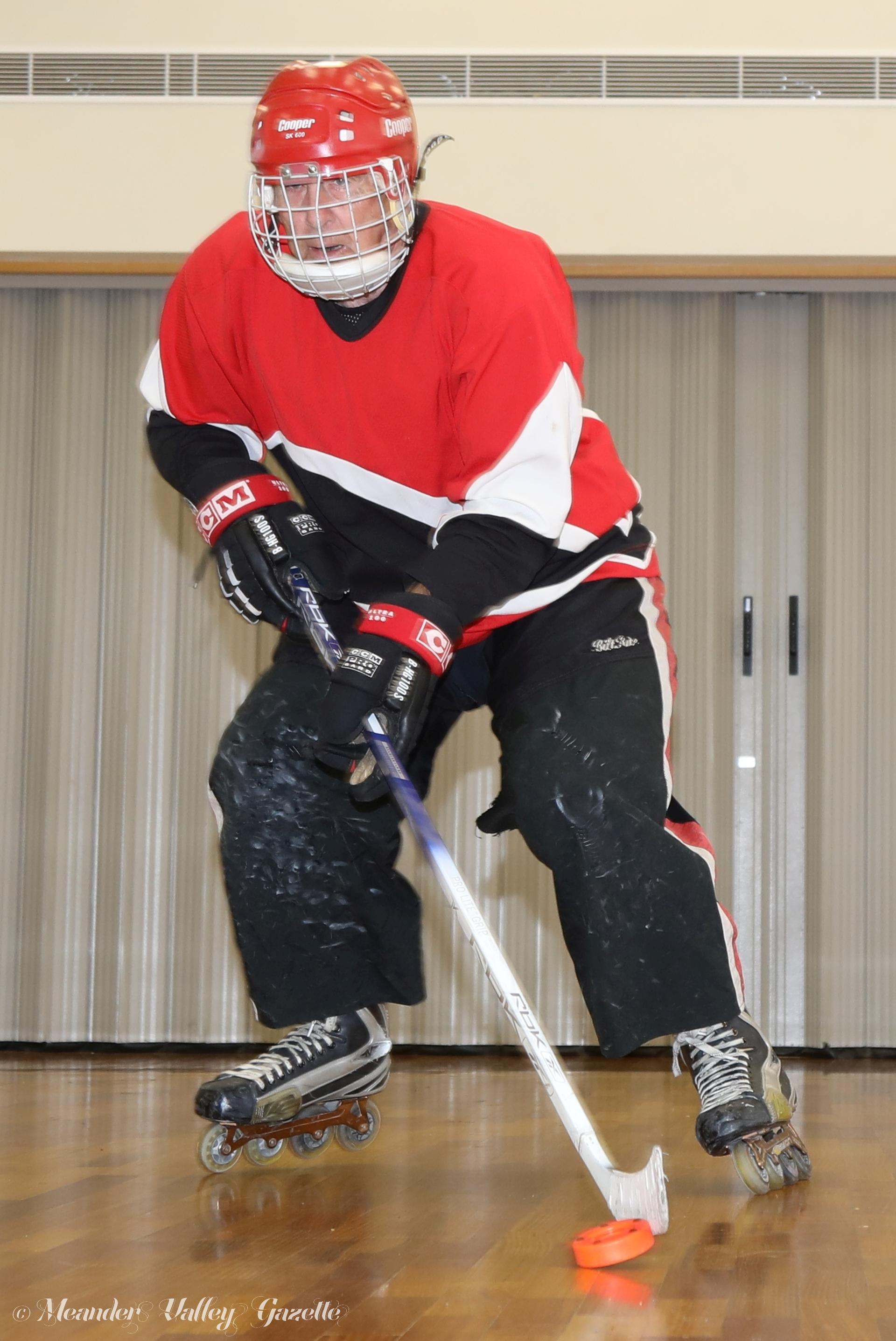 Skater Peter Ashton promoting his lifelong Sport of 'Inline Hockey'.