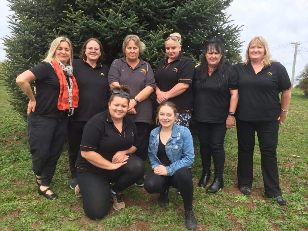 Deloraine Trade Centre's successful aged care students. Back: TasTAFE teacher Anne James, Gaye Donohue, Elizabeth Sherriff, Simone Claridge, Ann Barber, Rosanne Barrett. Front: Aleisha Bott, Gracey McGee.