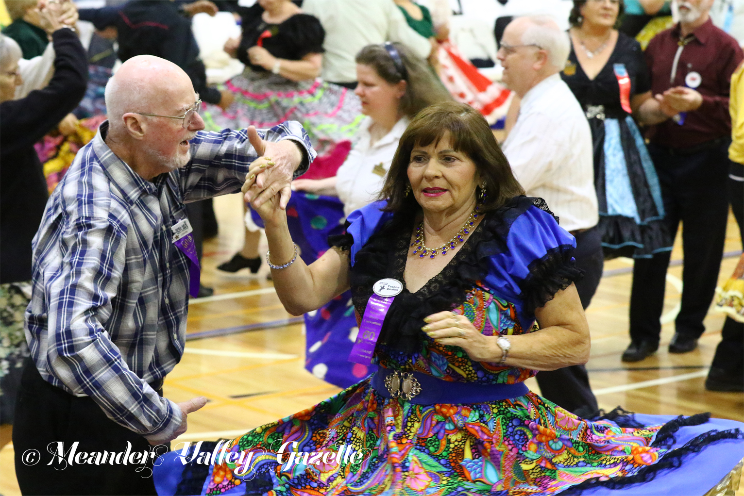 The Community Complex was a sea of movement and colour as over 600 square dancers took to the dance floor to strut their stuff.  Photo by Mike Moores